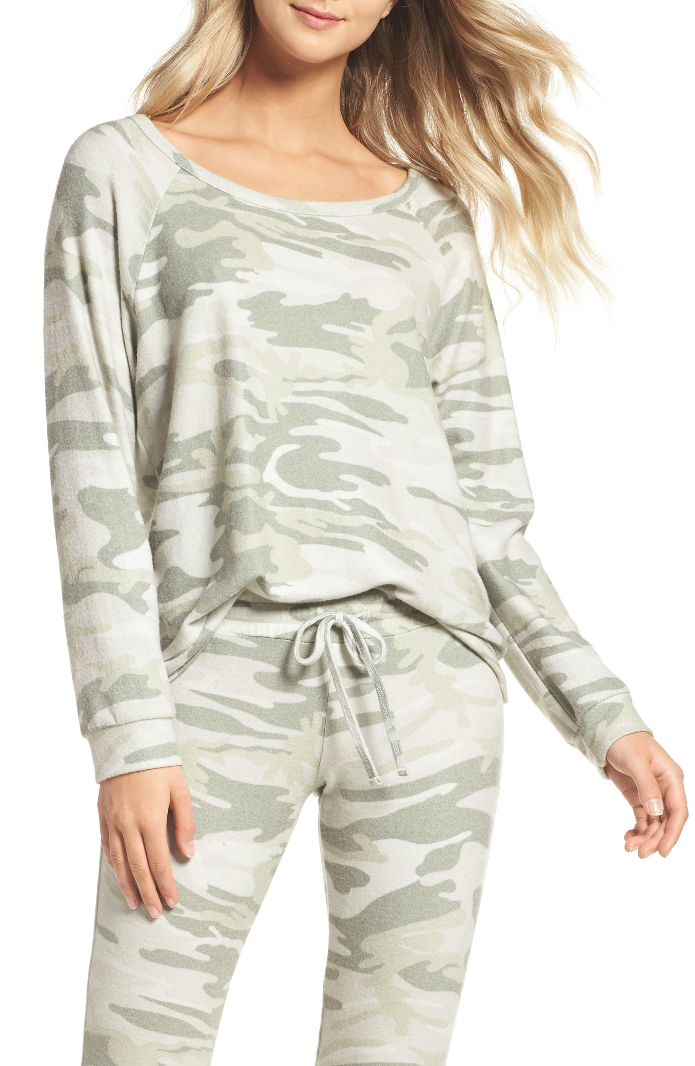 Michael Lauren Camo Lounge Sweatshirt