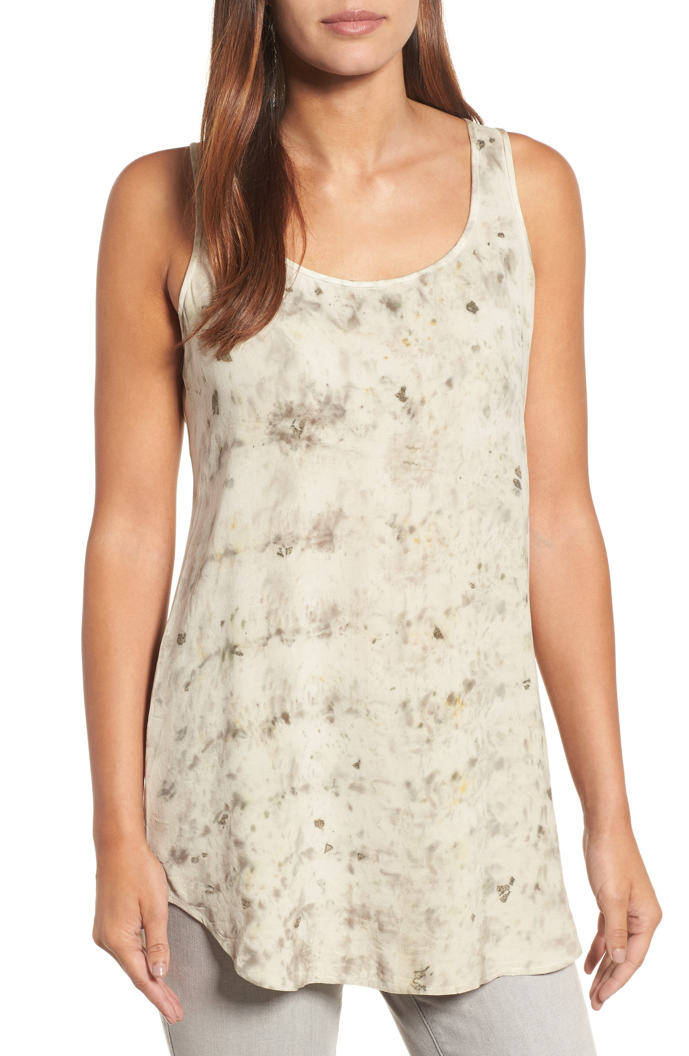 Eileen Fisher Overdyed Silk Shell (Nordstrom Exclusive)