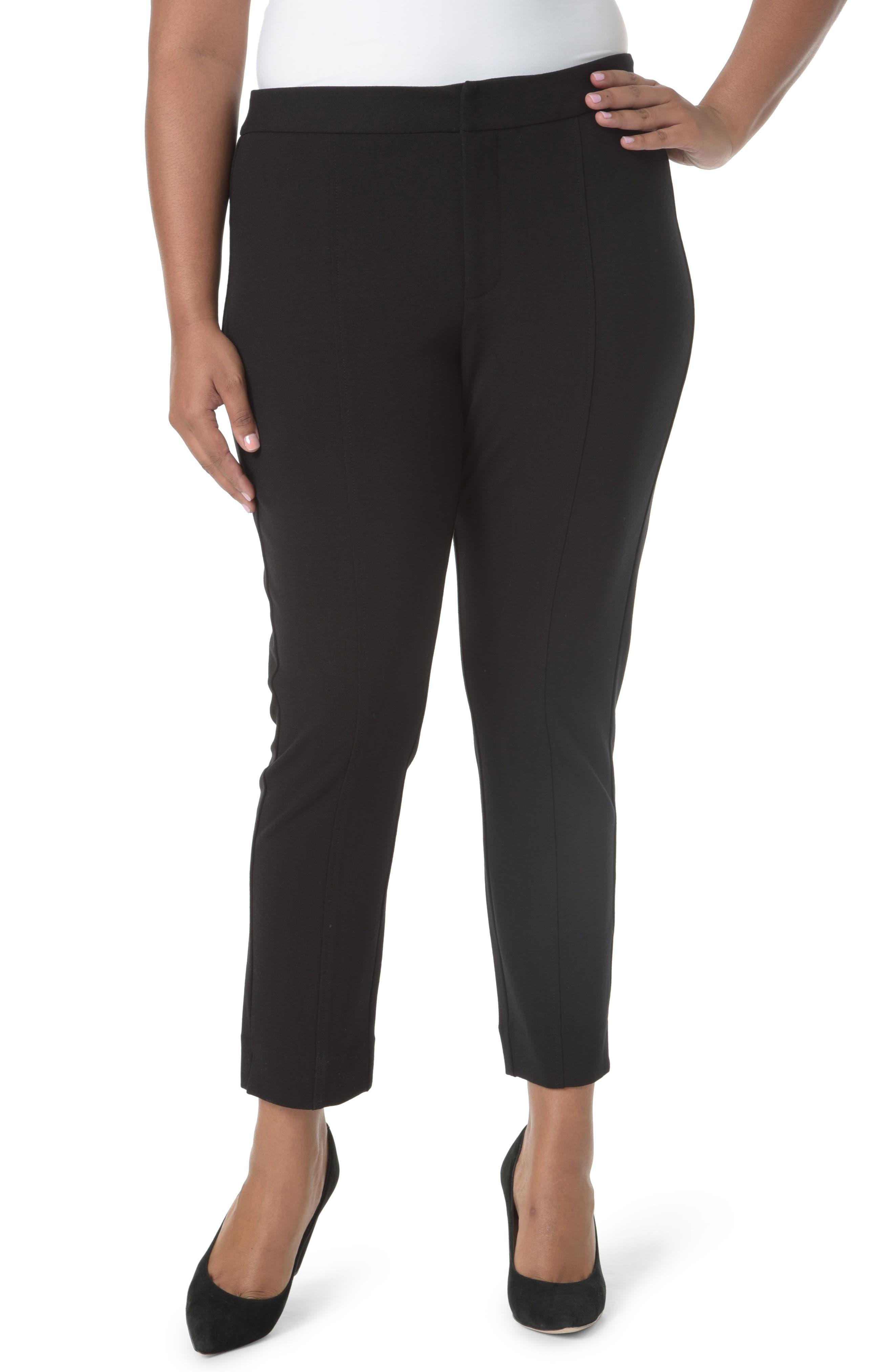 Stretch Ankle Pants,                         Main,                         color, Black