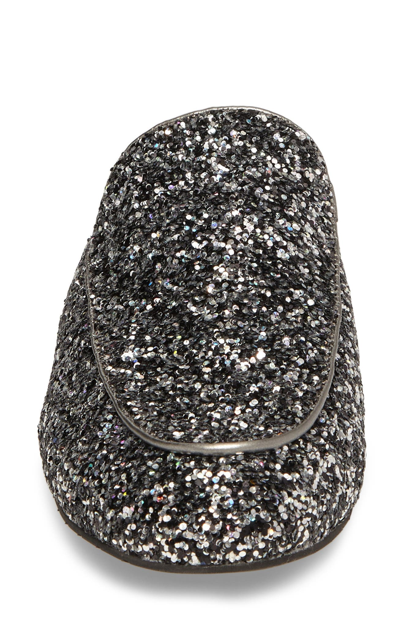 Wallice Appliqué Mule,                             Alternate thumbnail 4, color,                             Pewter Glitter