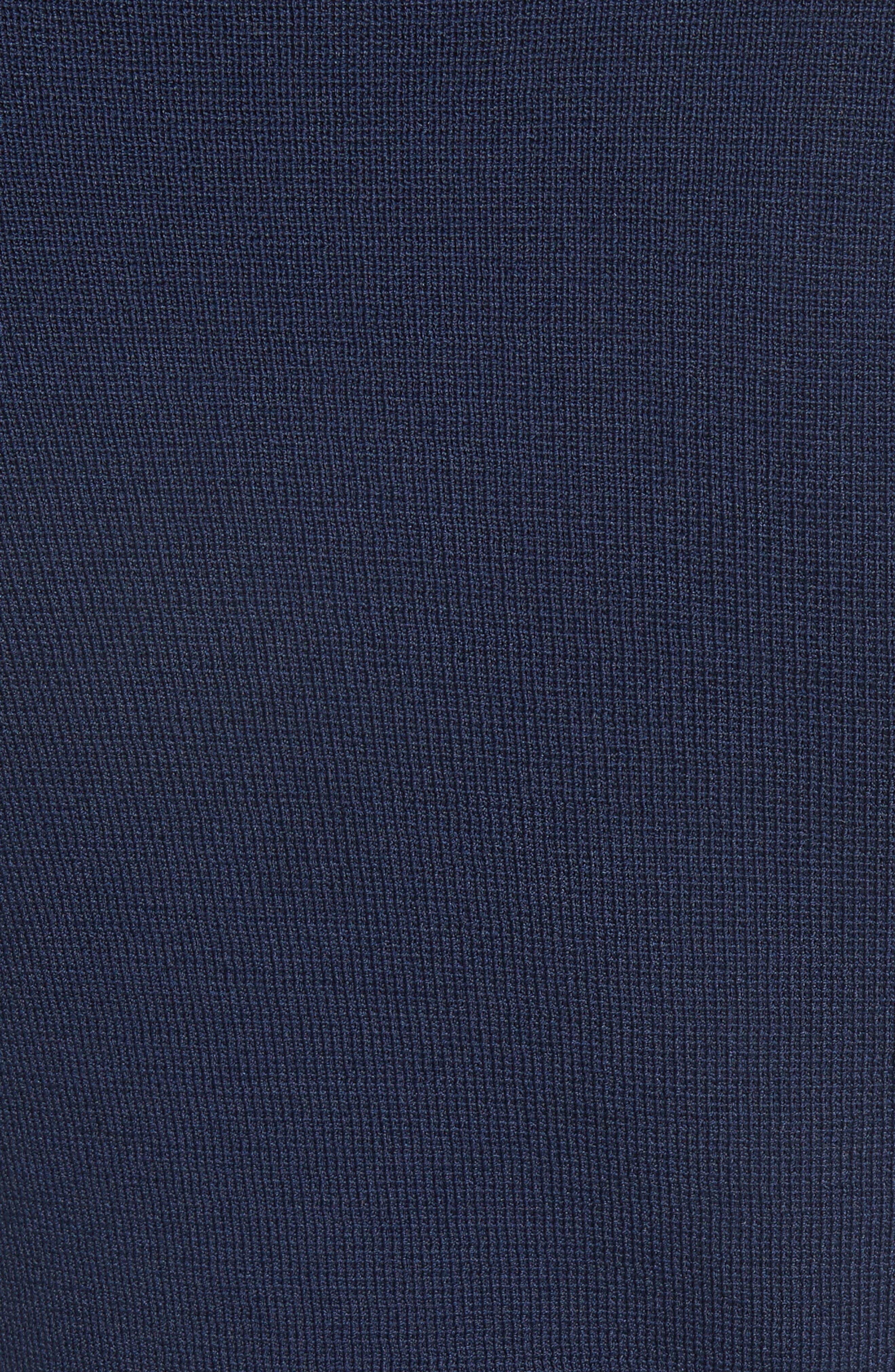 Button Detail Knit Dress,                             Alternate thumbnail 6, color,                             Navy