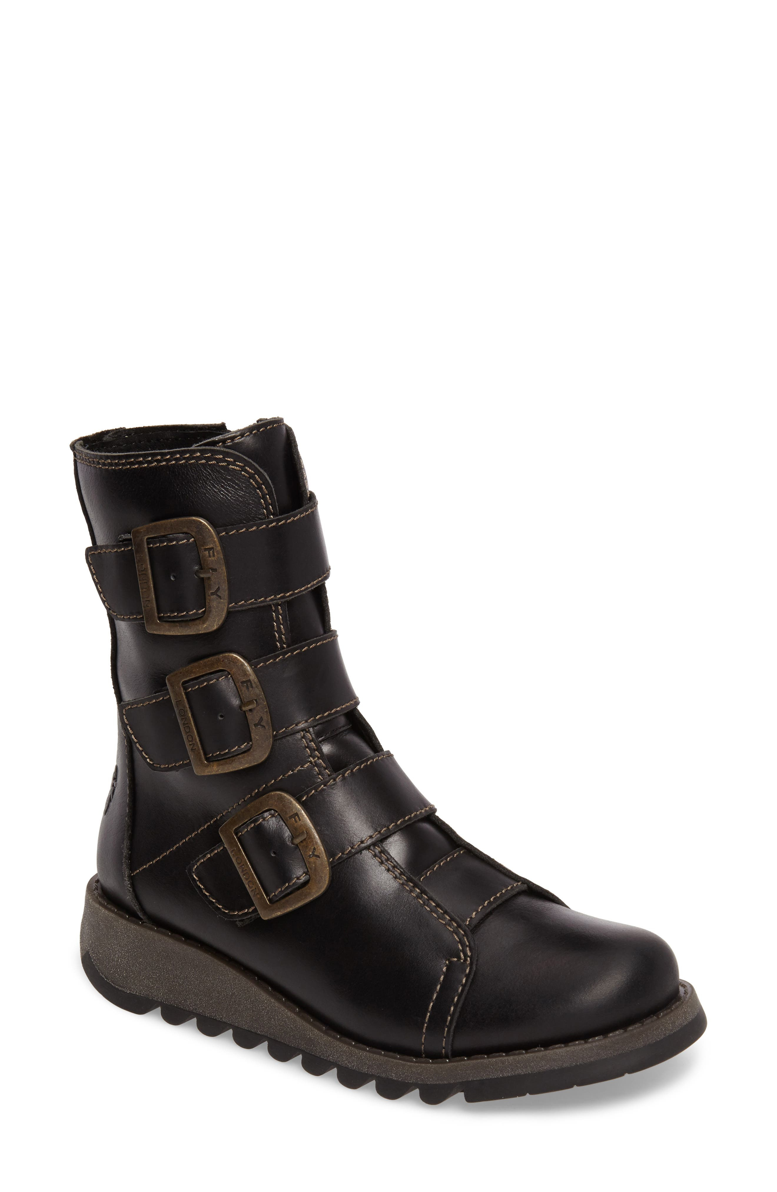 Scop Boot,                         Main,                         color, Black Leather