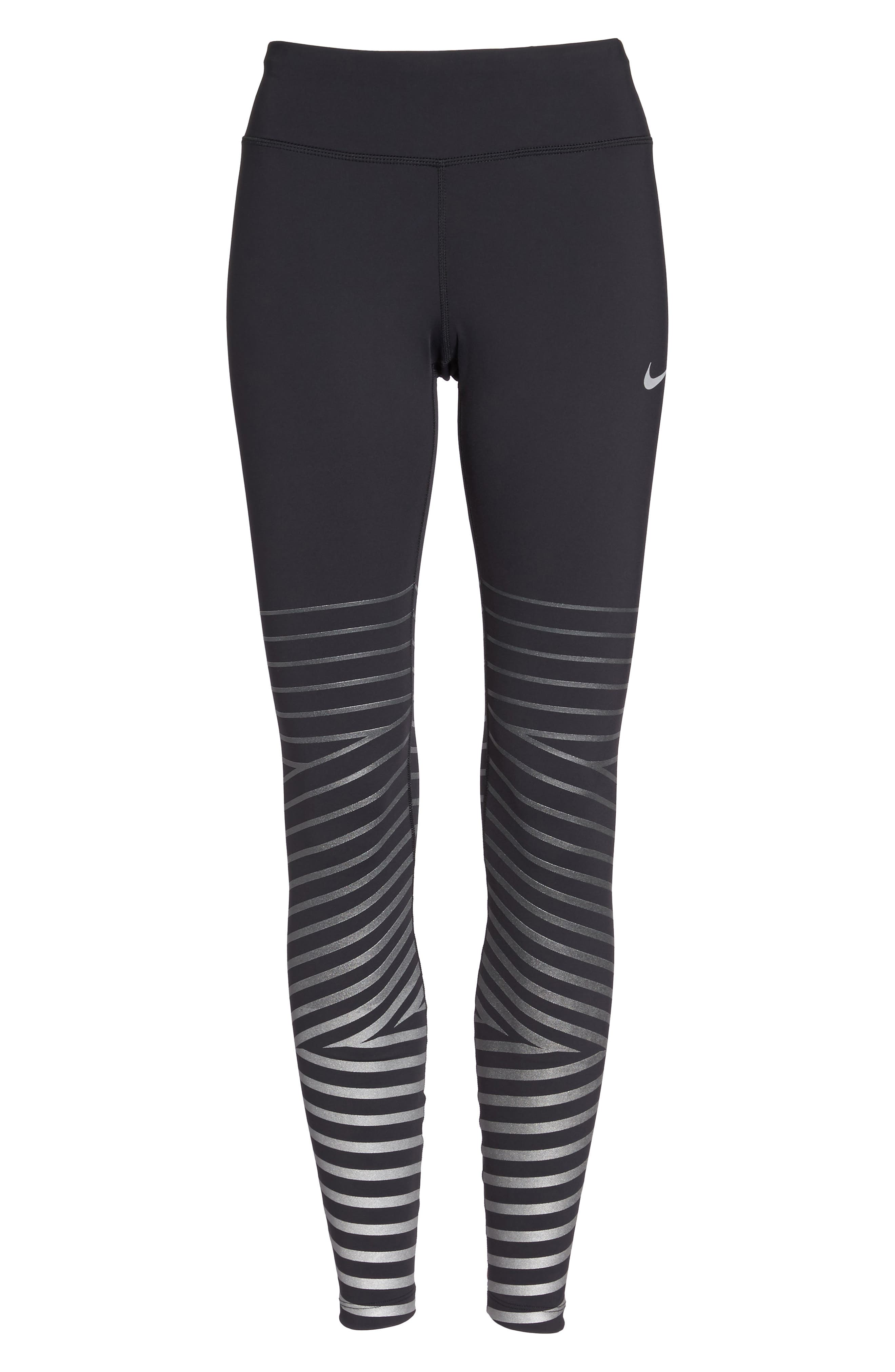 Power Epic Lux Flash Running Tights,                             Alternate thumbnail 6, color,                             Black/ Anthracite