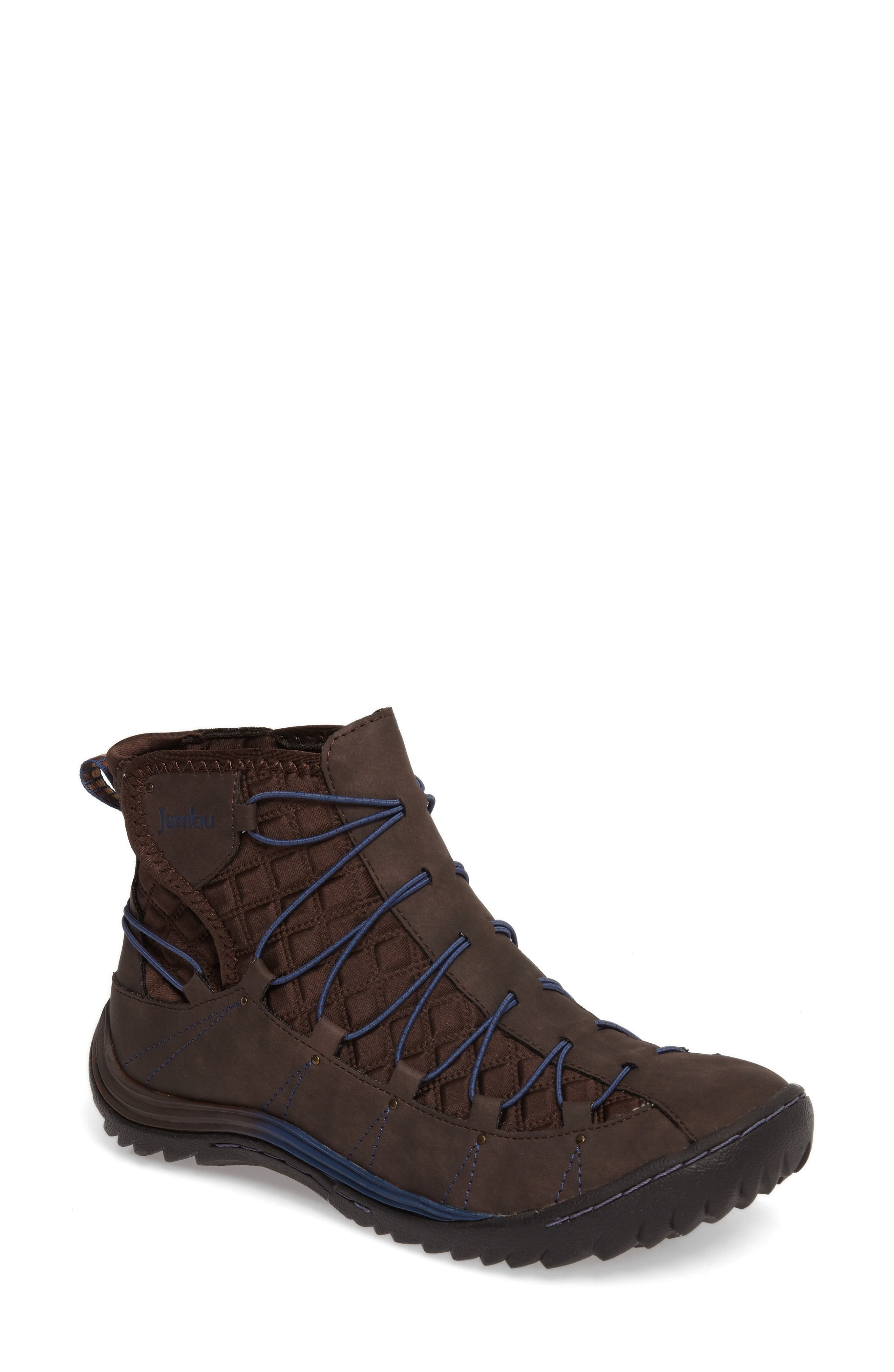 Spirit Water Resistant Bootie,                         Main,                         color, Brown Textile