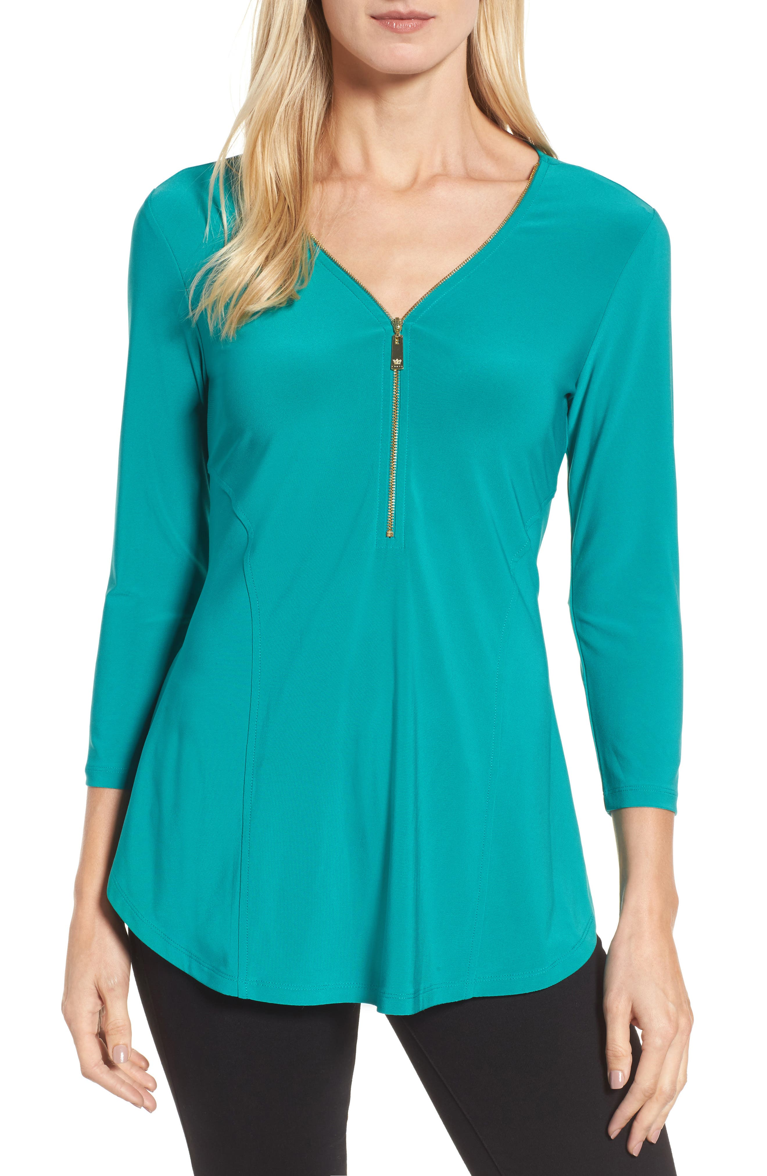 Alternate Image 1 Selected - Chaus Zip Front Top