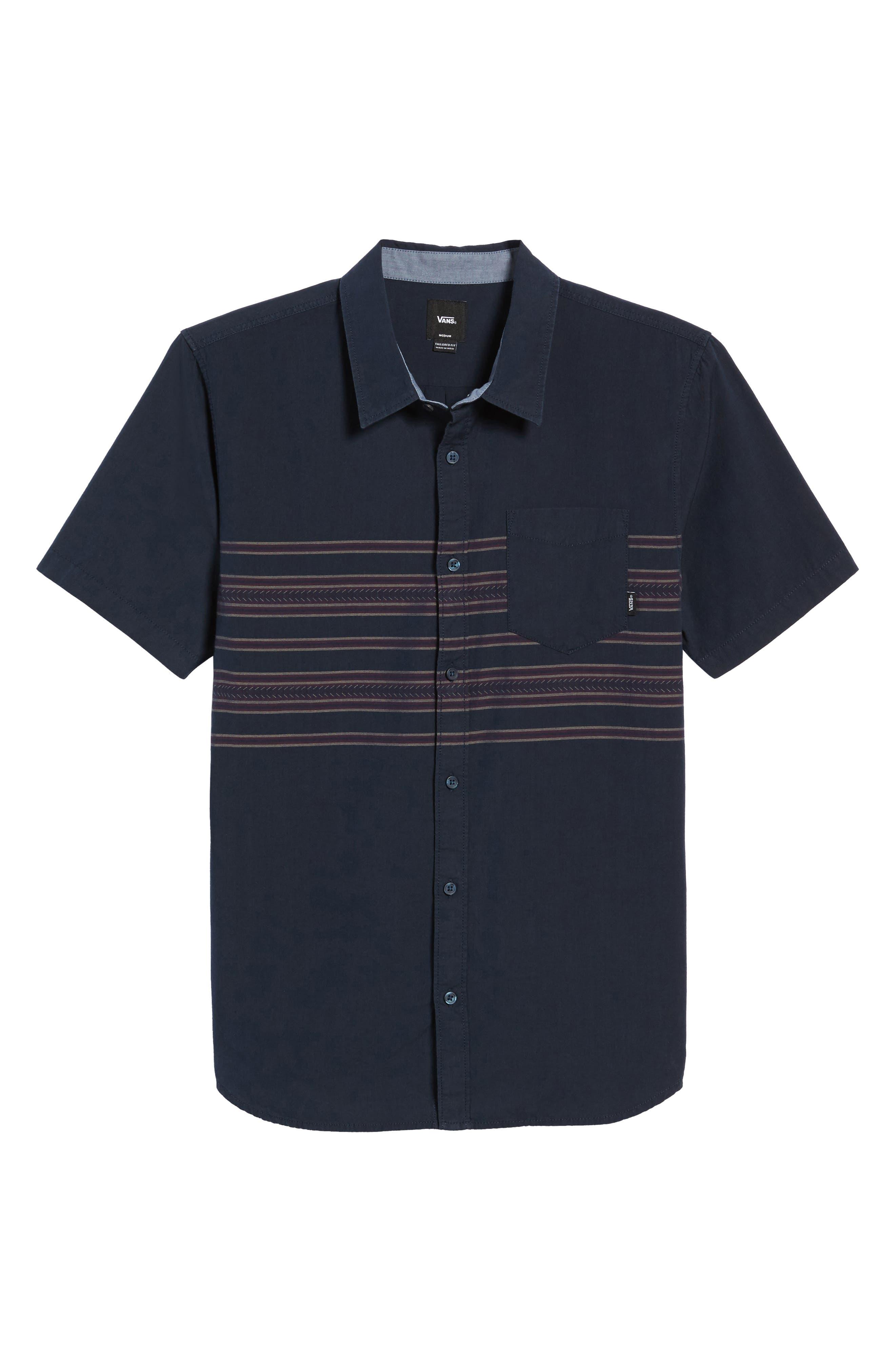 Alternate Image 6  - Vans Benmore Striped Woven Shirt