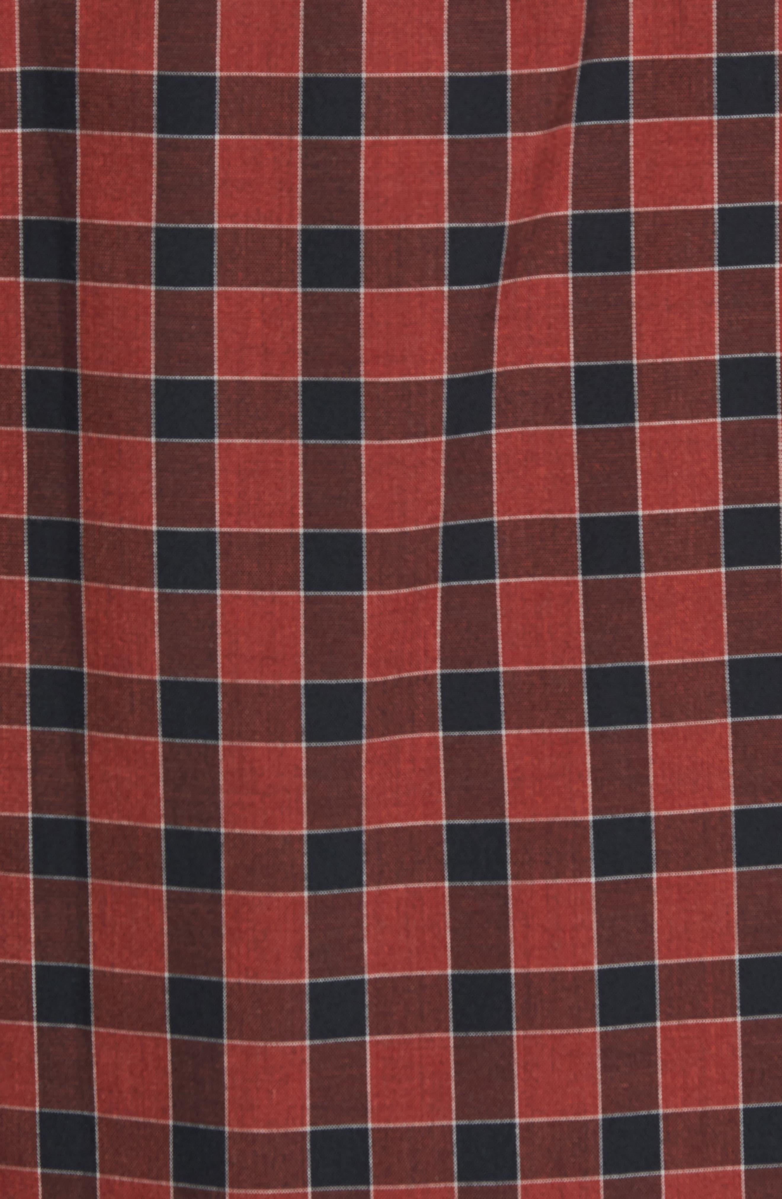 Lake Plaid Flannel Shirt,                             Alternate thumbnail 5, color,                             Red