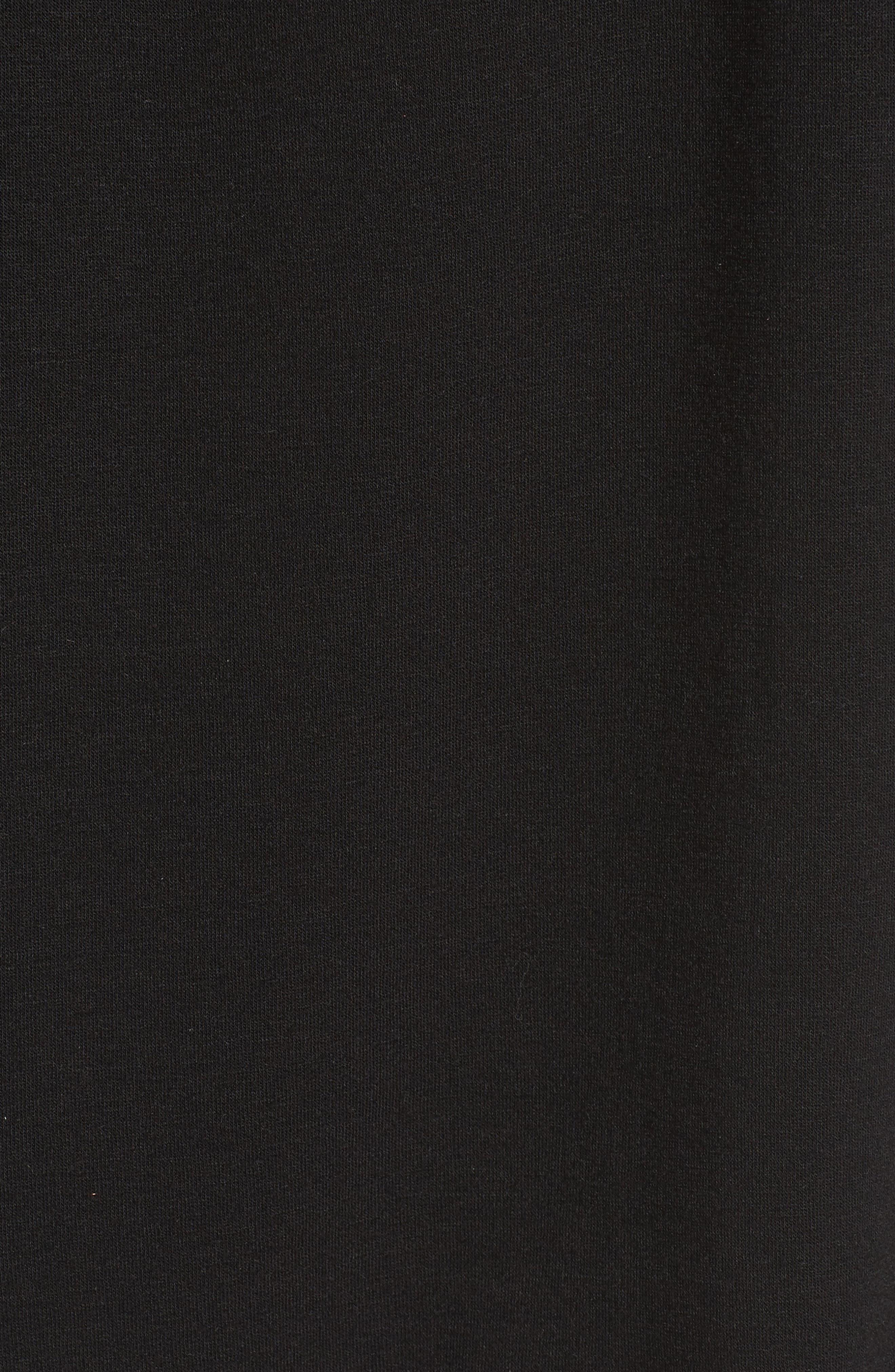Tie Sleeve Shift Dress,                             Alternate thumbnail 5, color,                             Black