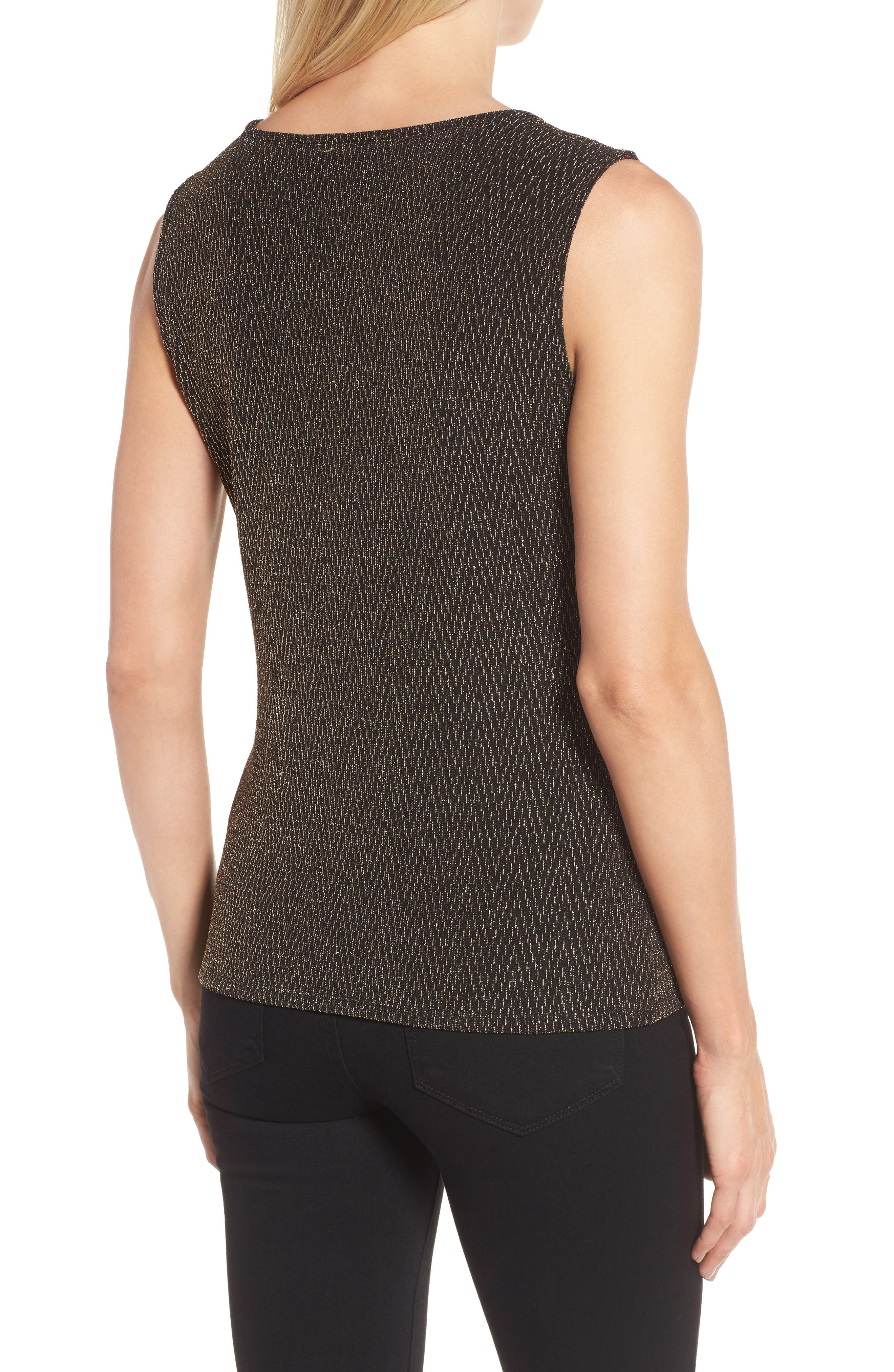 Alternate Image 2  - Chaus Metallic Tank Top