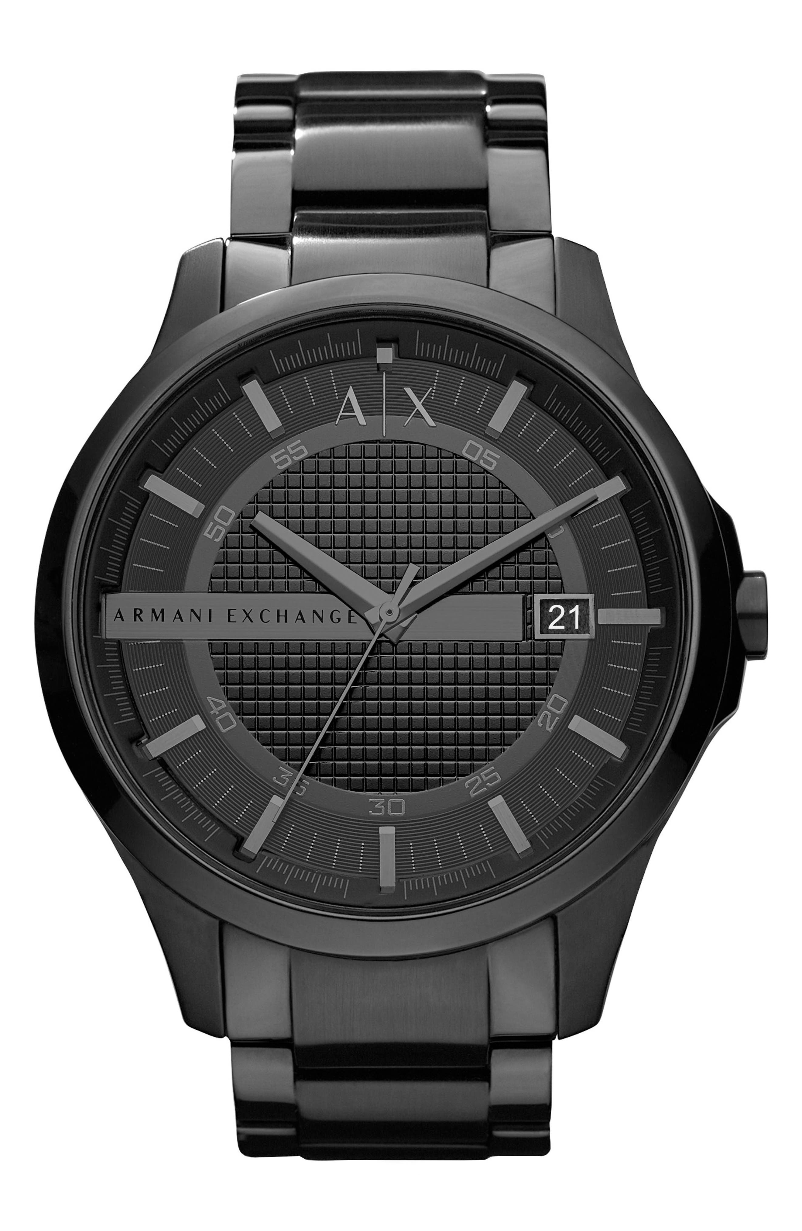 Main Image - AX Armani Exchange Bracelet Watch, 46mm