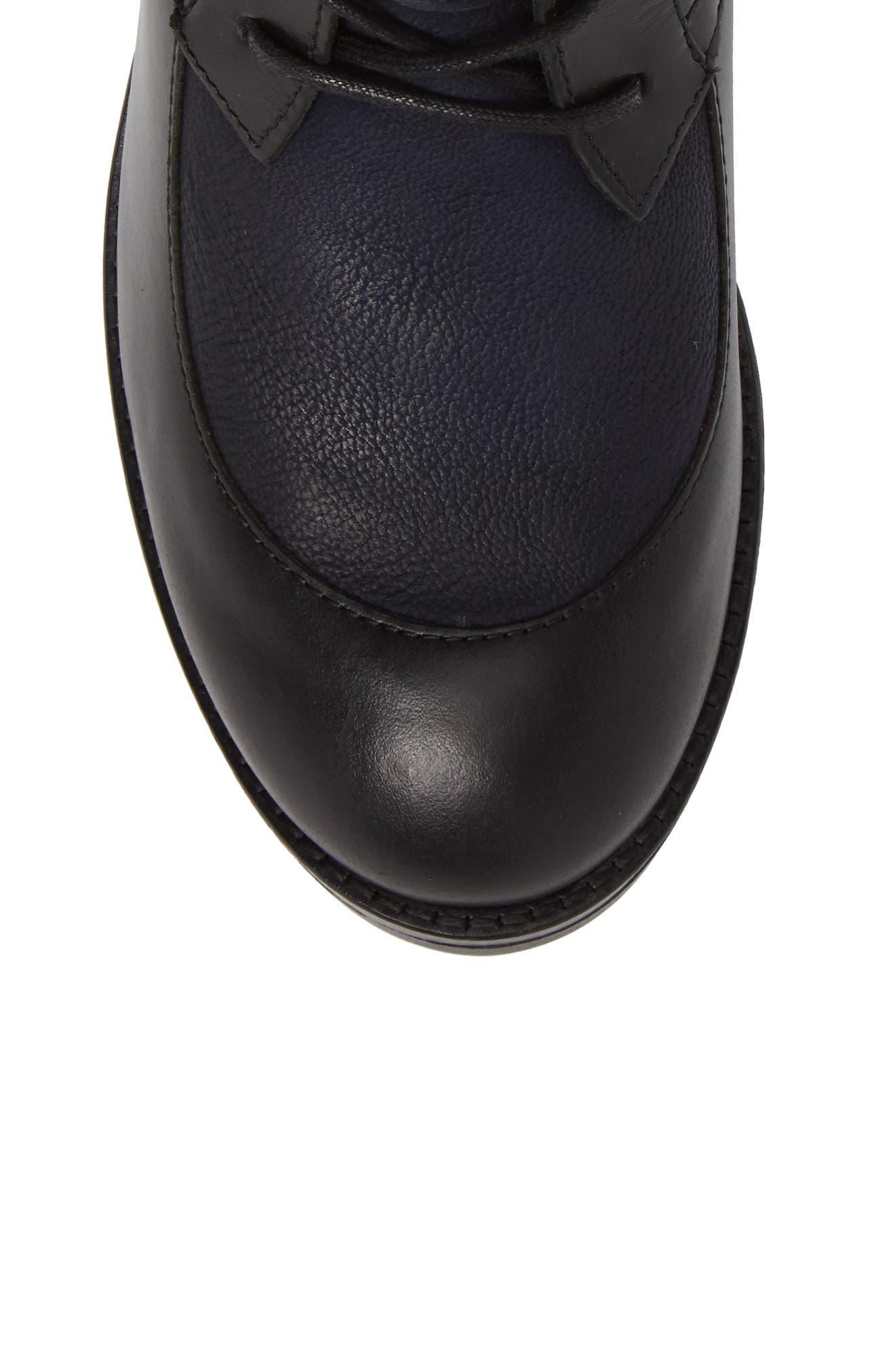 Arty Boot,                             Alternate thumbnail 5, color,                             Black/ Ocean Leather