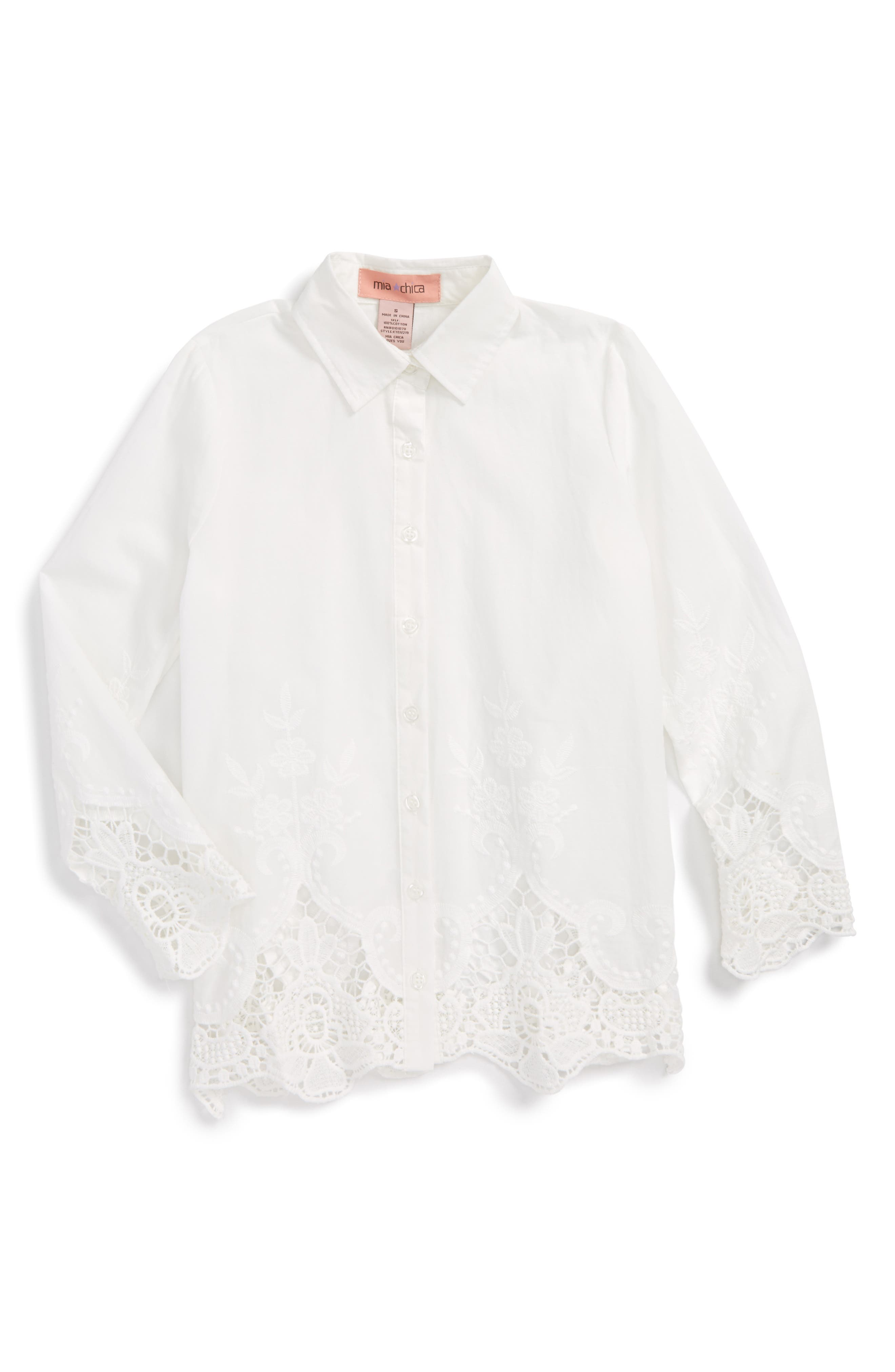 Mia Chica Embroidered Tunic (Big Girls)