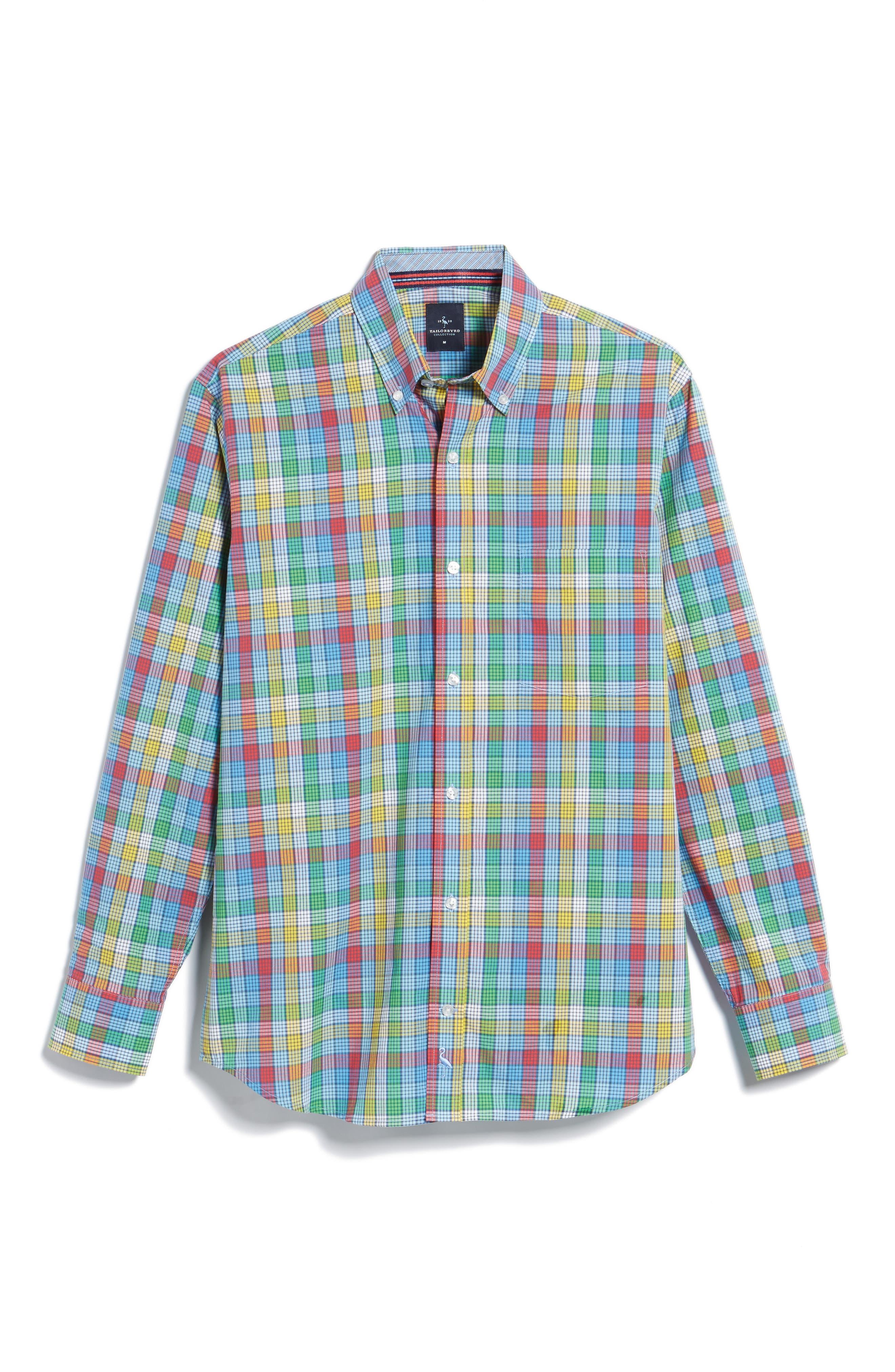 Alternate Image 6  - TailorByrd Belmont Check Sport Shirt