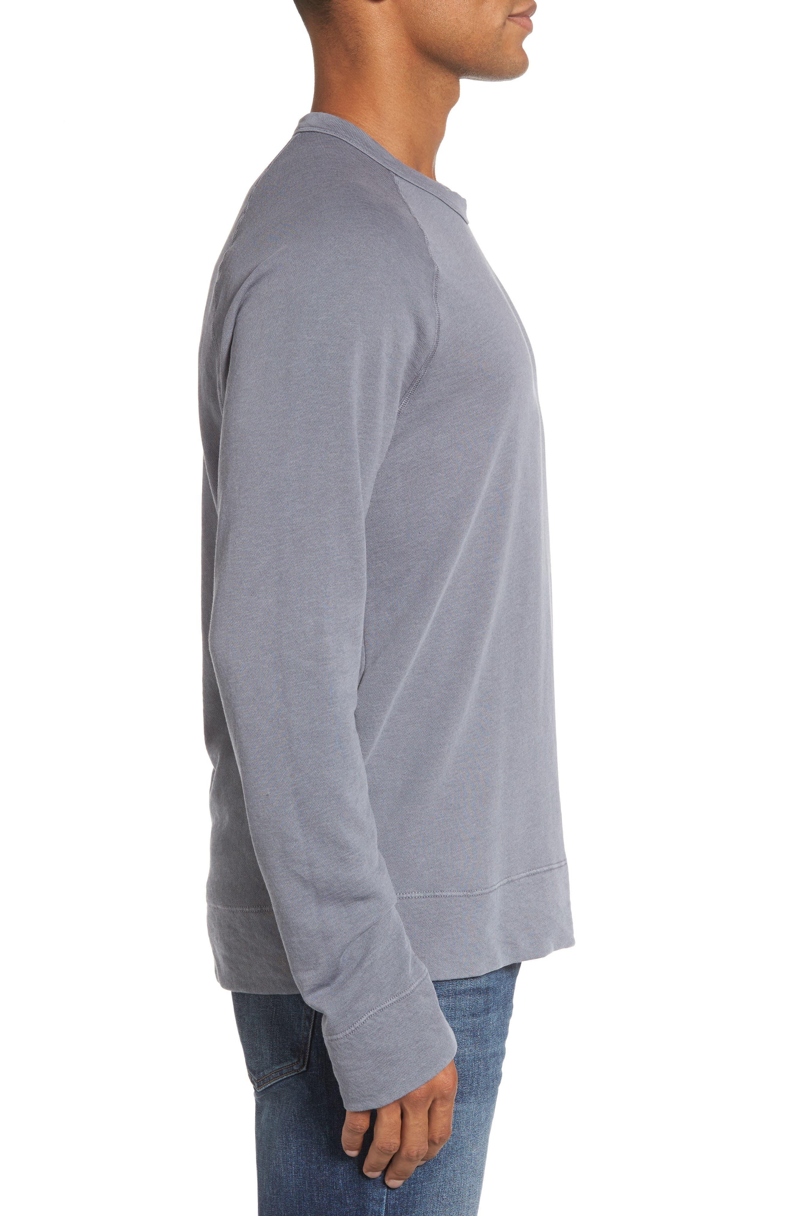 Alternate Image 3  - James Perse Raglan Crewneck Sweatshirt