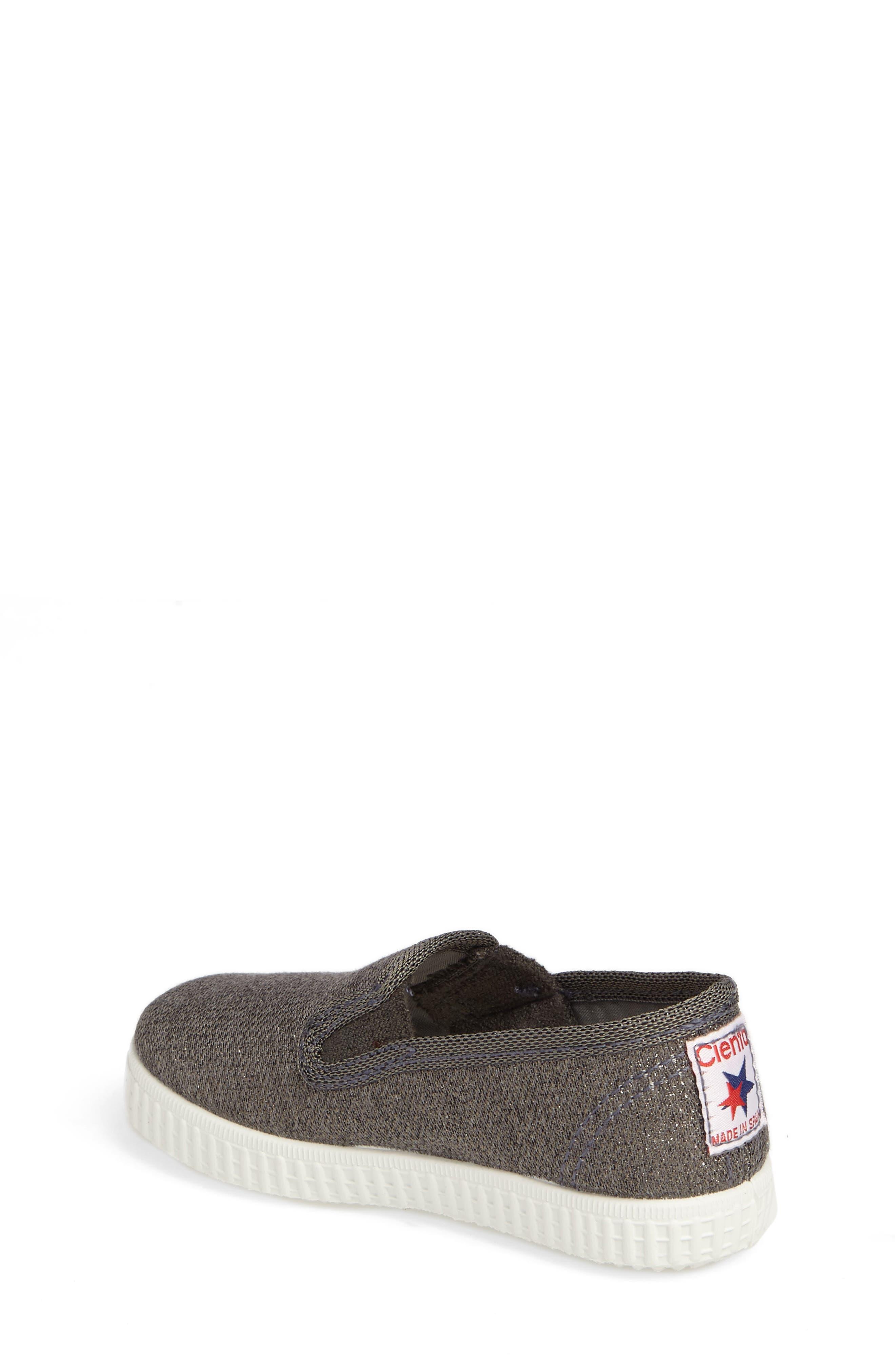 Alternate Image 2  - Cienta Glitter Slip-On Sneaker (Baby, Walker, Toddler and Little Kid)