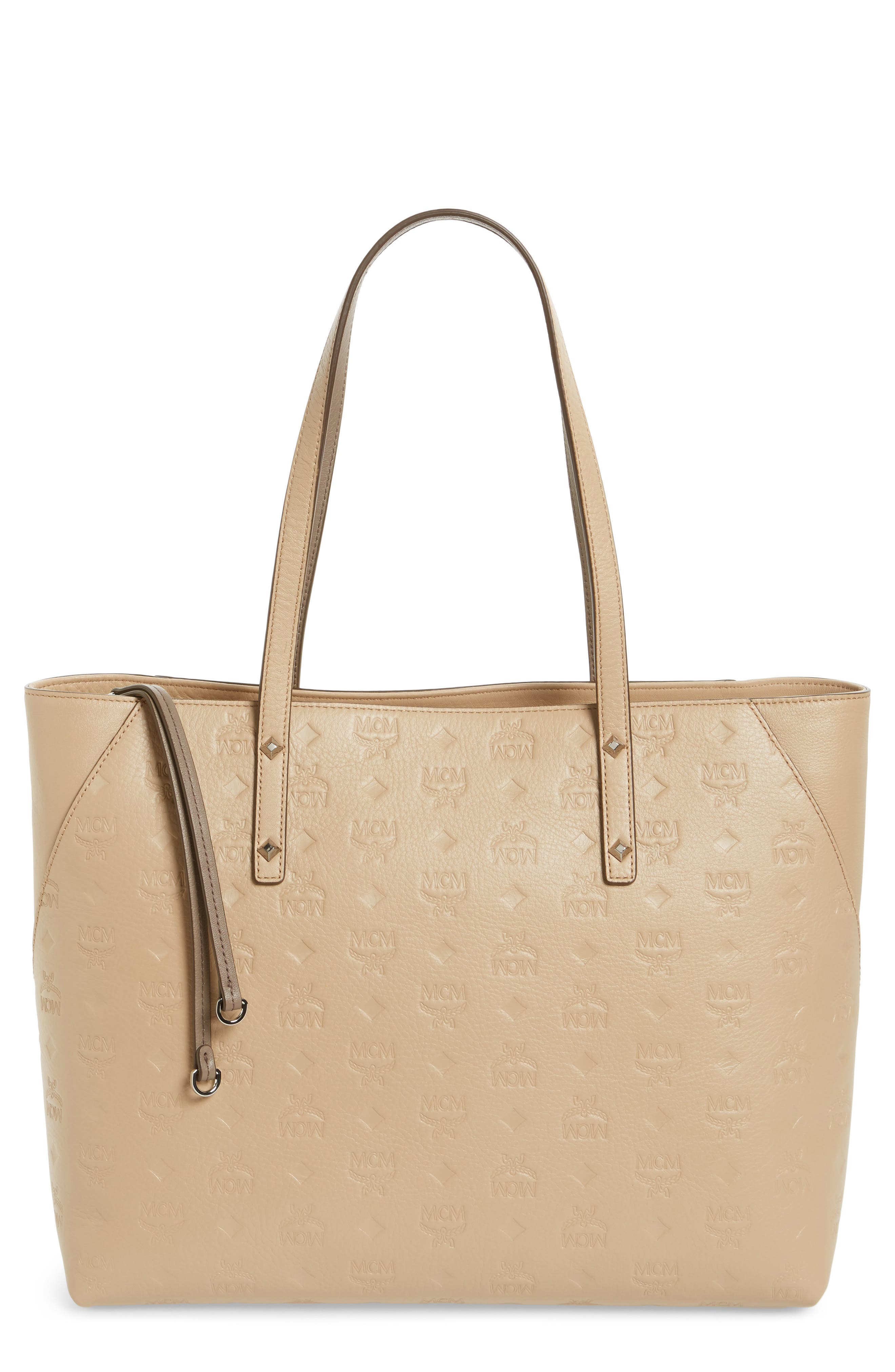 MCM Klara Monogrammed Leather Shopper