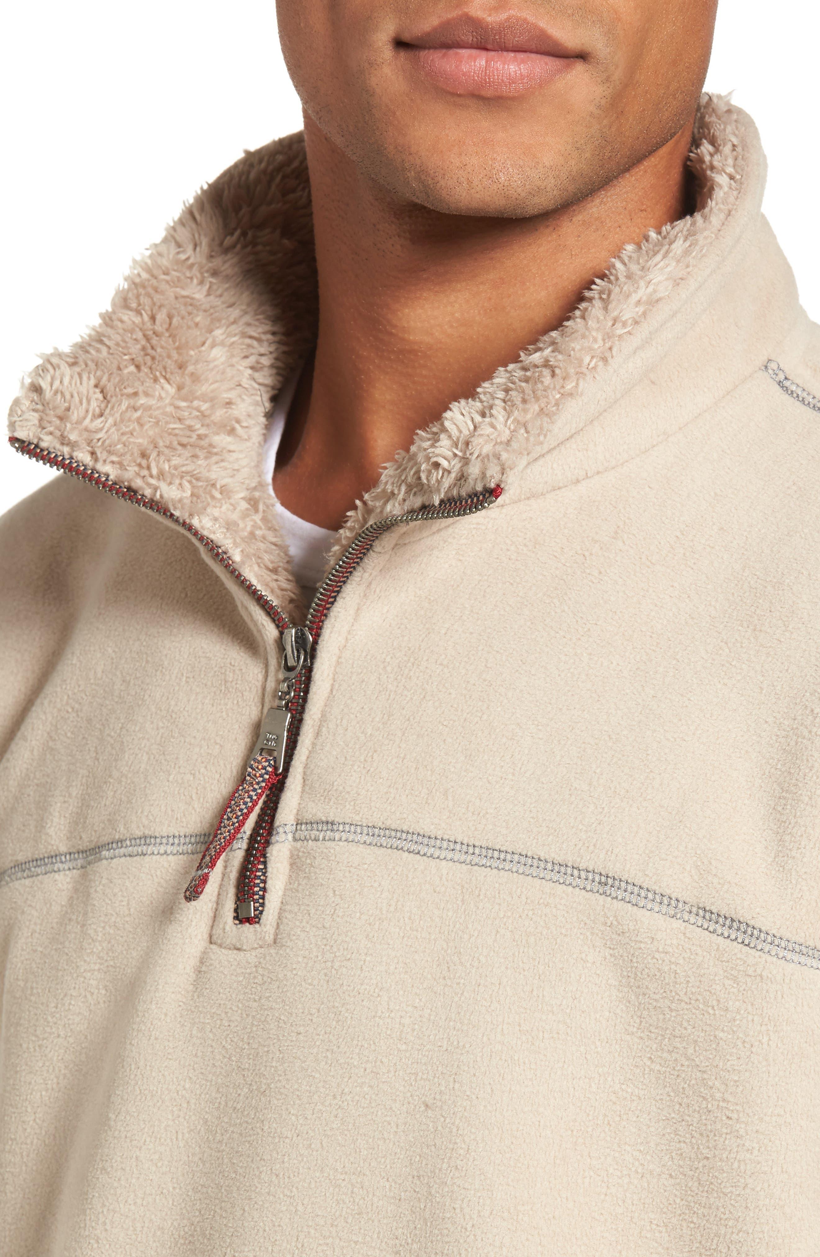 Bonded Polar Fleece Lined Pullover,                             Alternate thumbnail 4, color,                             Sand