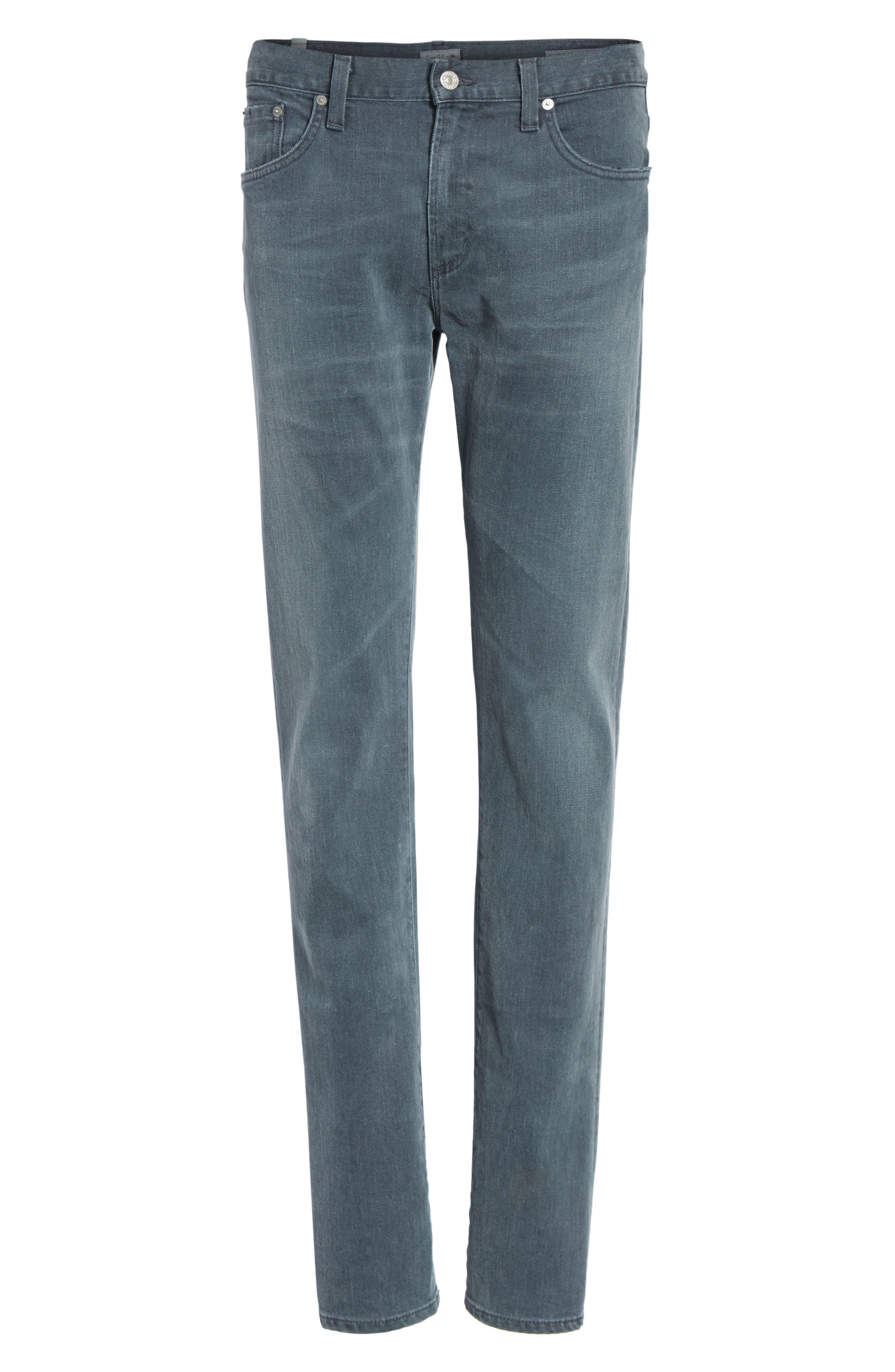 Core Slim Fit Jeans,                             Alternate thumbnail 6, color,                             Grey Skies