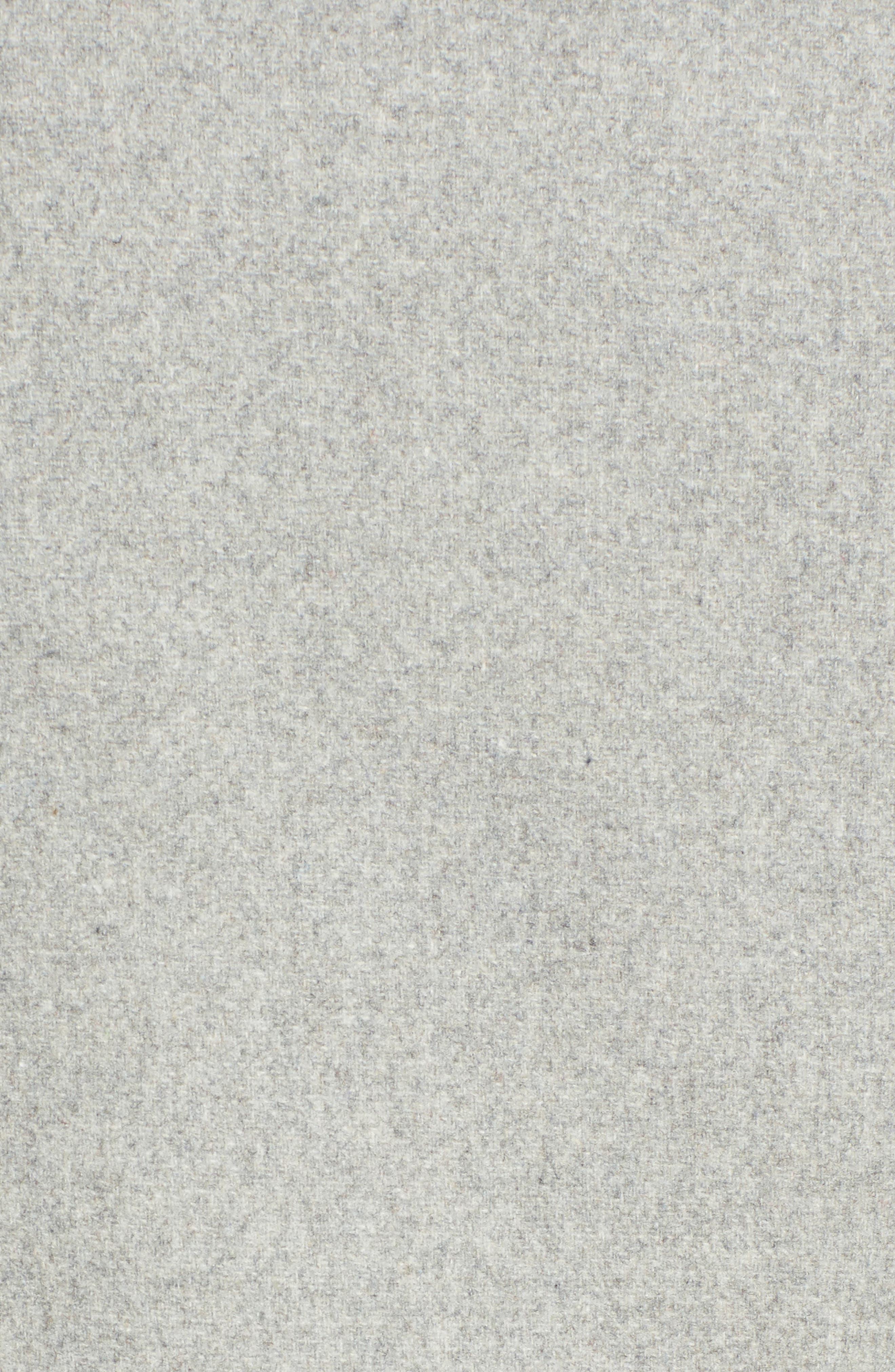 Wool Blend Military Coat,                             Alternate thumbnail 5, color,                             Light Grey