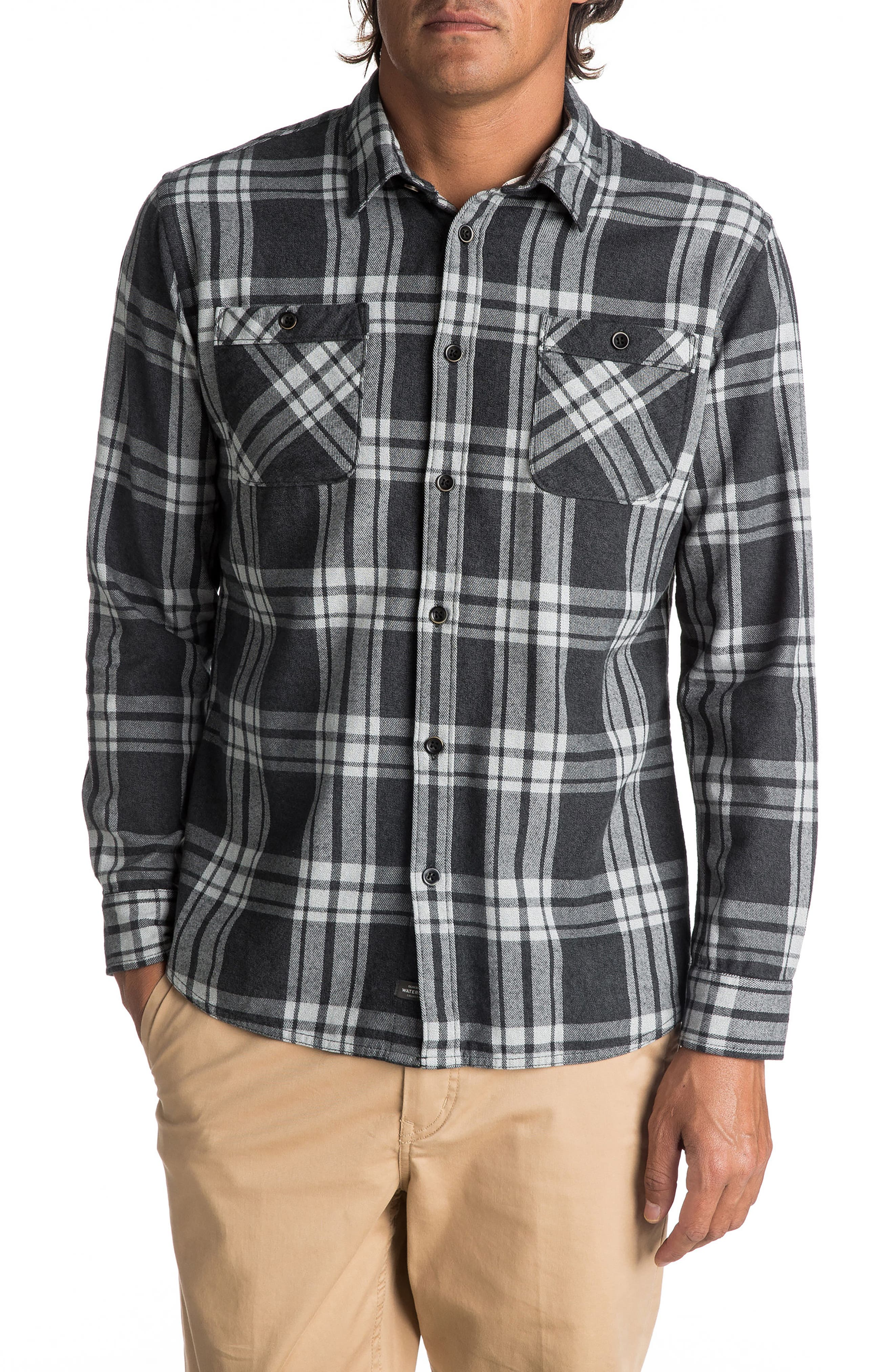 Quiksilver Waterman Collection Moon Tides Plaid Flannel Shirt