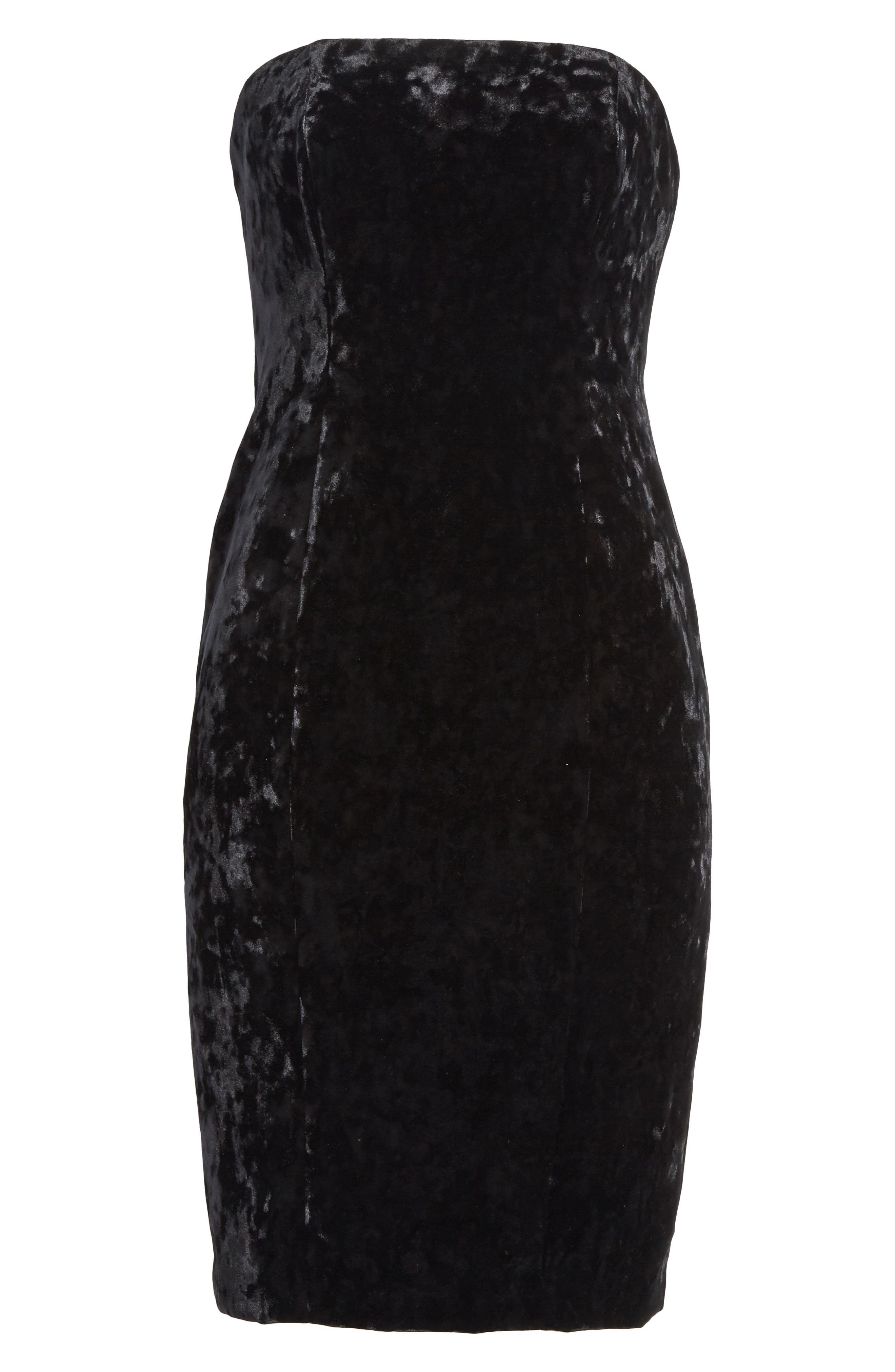 Alternate Image 6  - Tracy Reese Strapless Velvet Dress