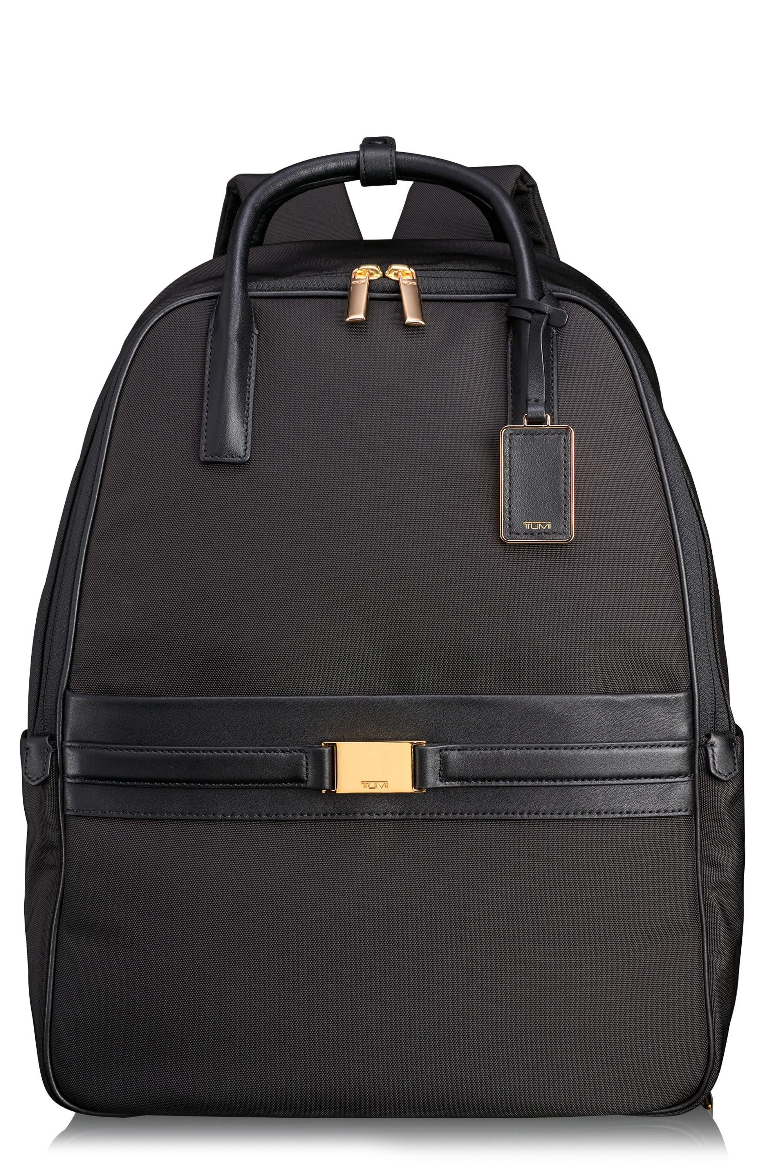 Larkin - Paterson Convertible Nylon Backpack,                             Main thumbnail 1, color,                             Black