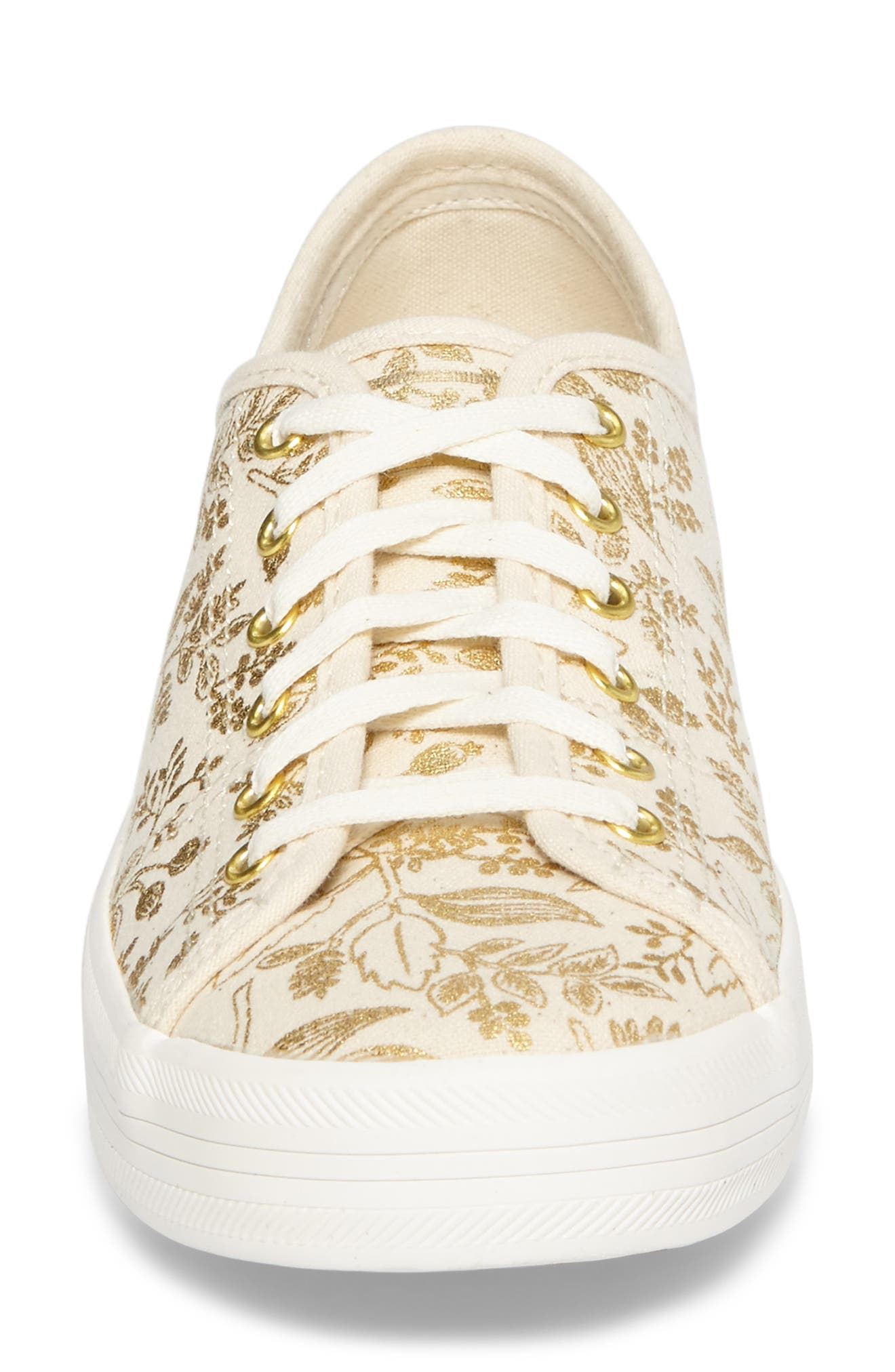 x Rifle Paper Co. Queen Anne Sneaker,                             Alternate thumbnail 4, color,                             Natural