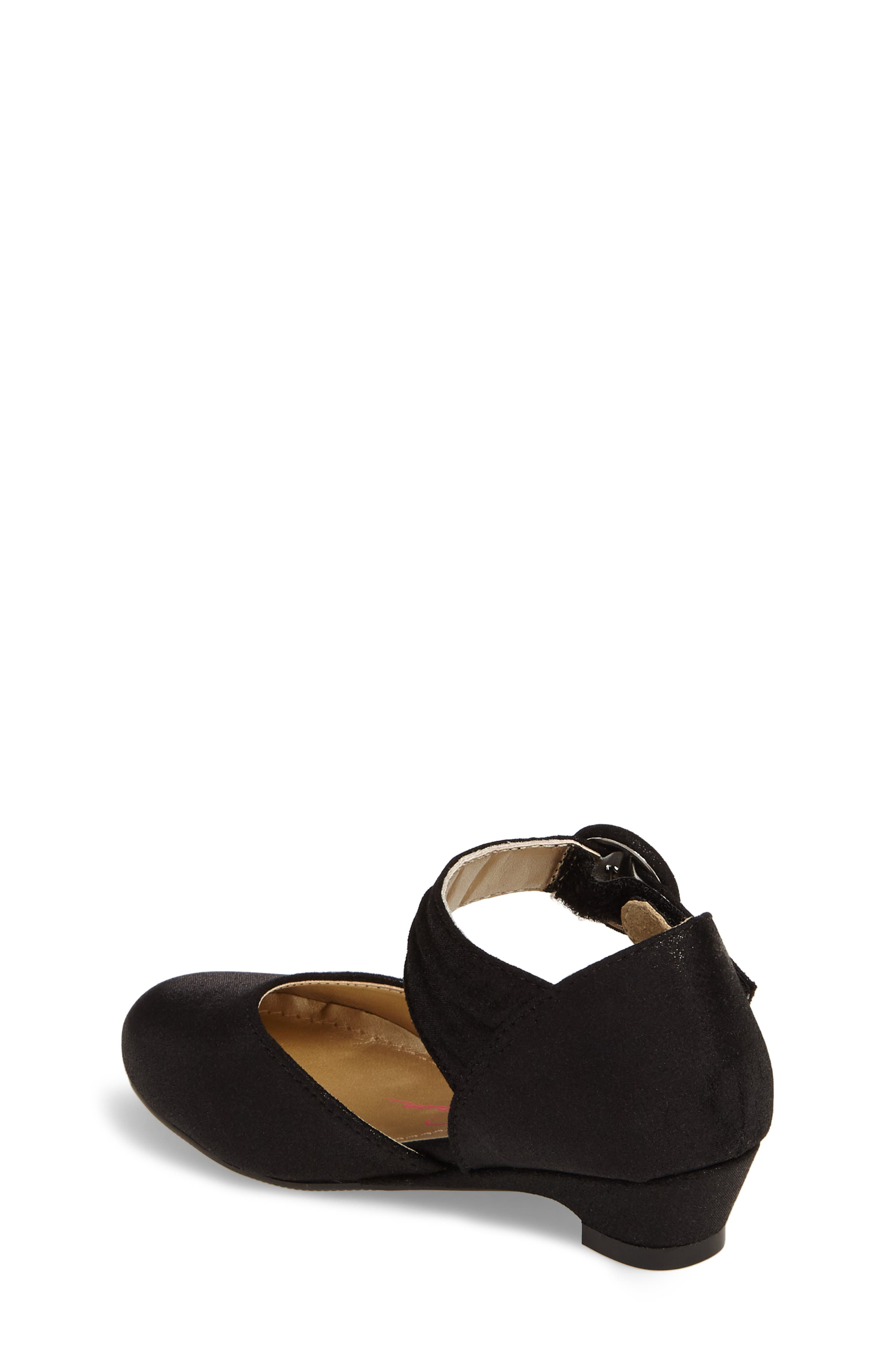 Tiana Shimmery Pump,                             Alternate thumbnail 2, color,                             Black Suede