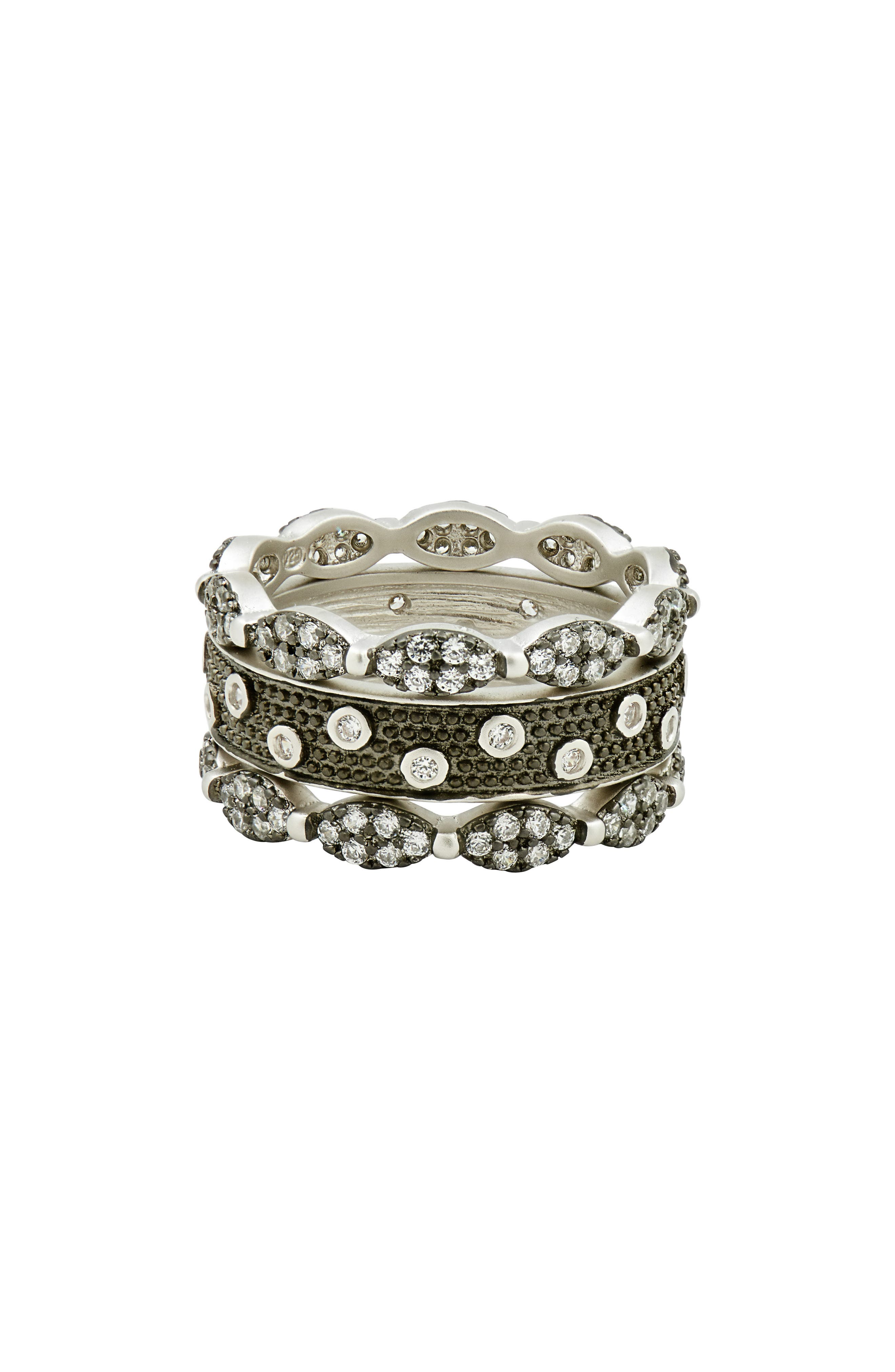 FREIDA ROTHMAN Instrial Finish Set of 3 Stackable Rings