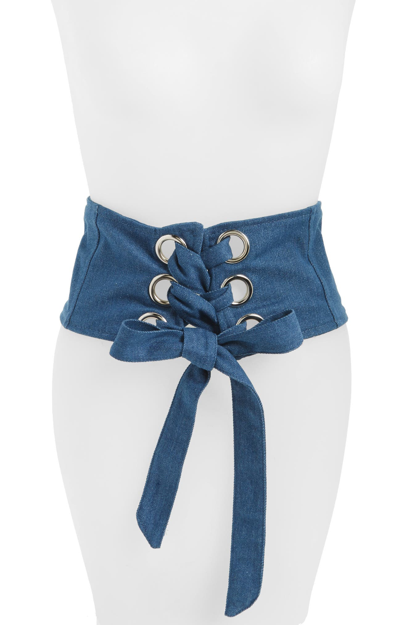 Main Image - Cara Denim Corset Belt