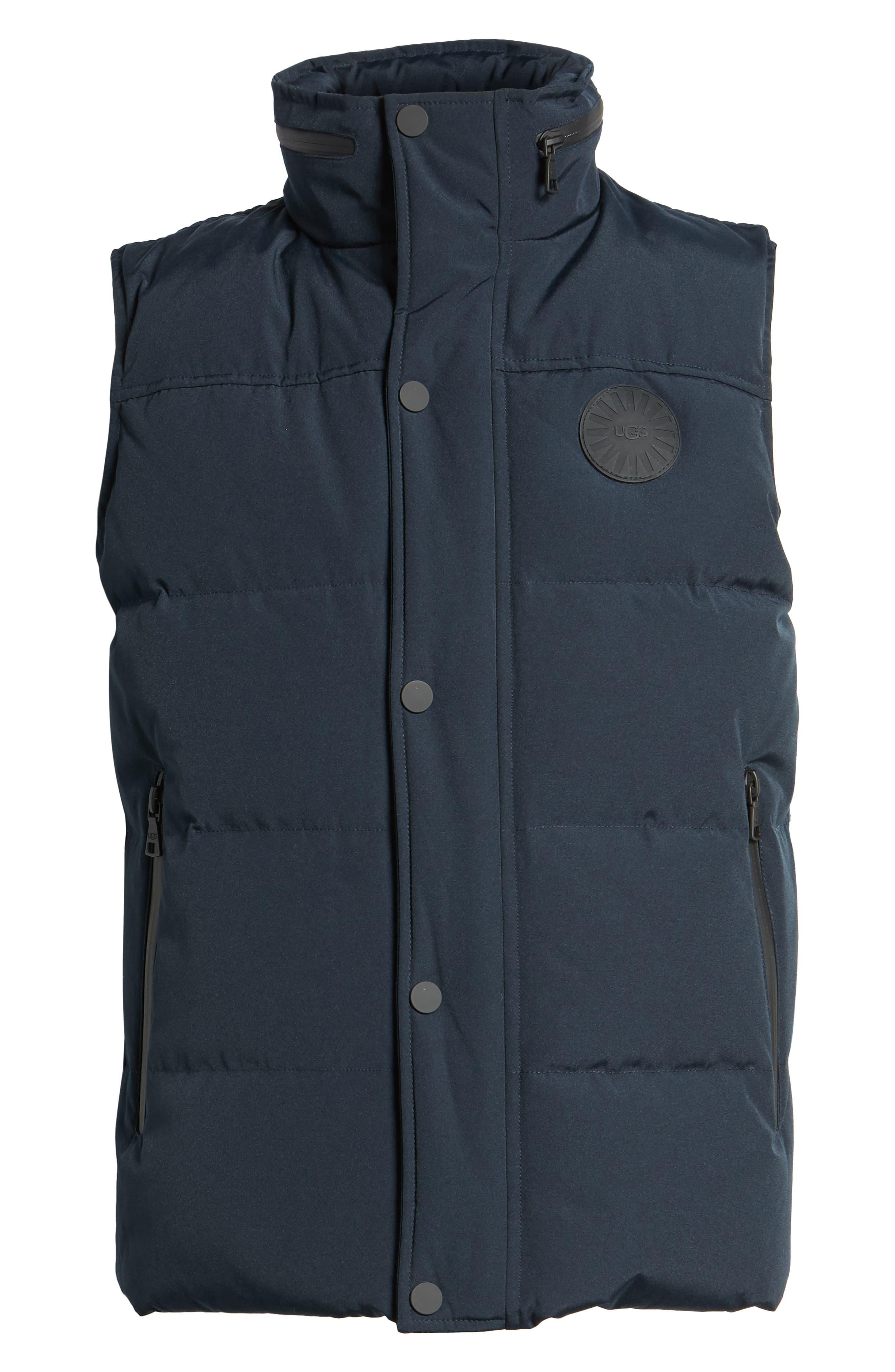Water-Resistant Down Vest,                             Alternate thumbnail 6, color,                             Navy