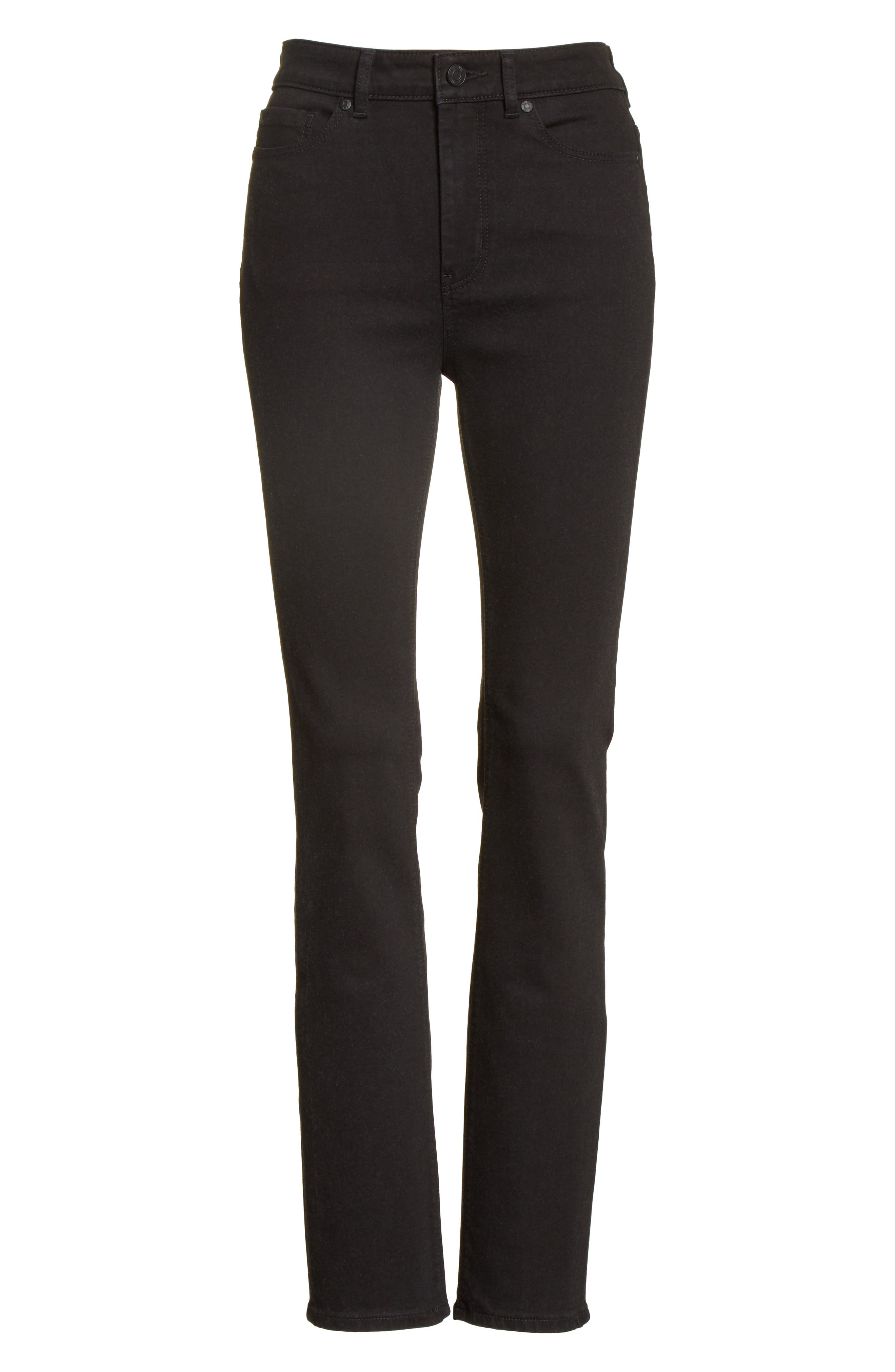 Clemence Skinny Pants,                             Alternate thumbnail 6, color,                             Coal Wash