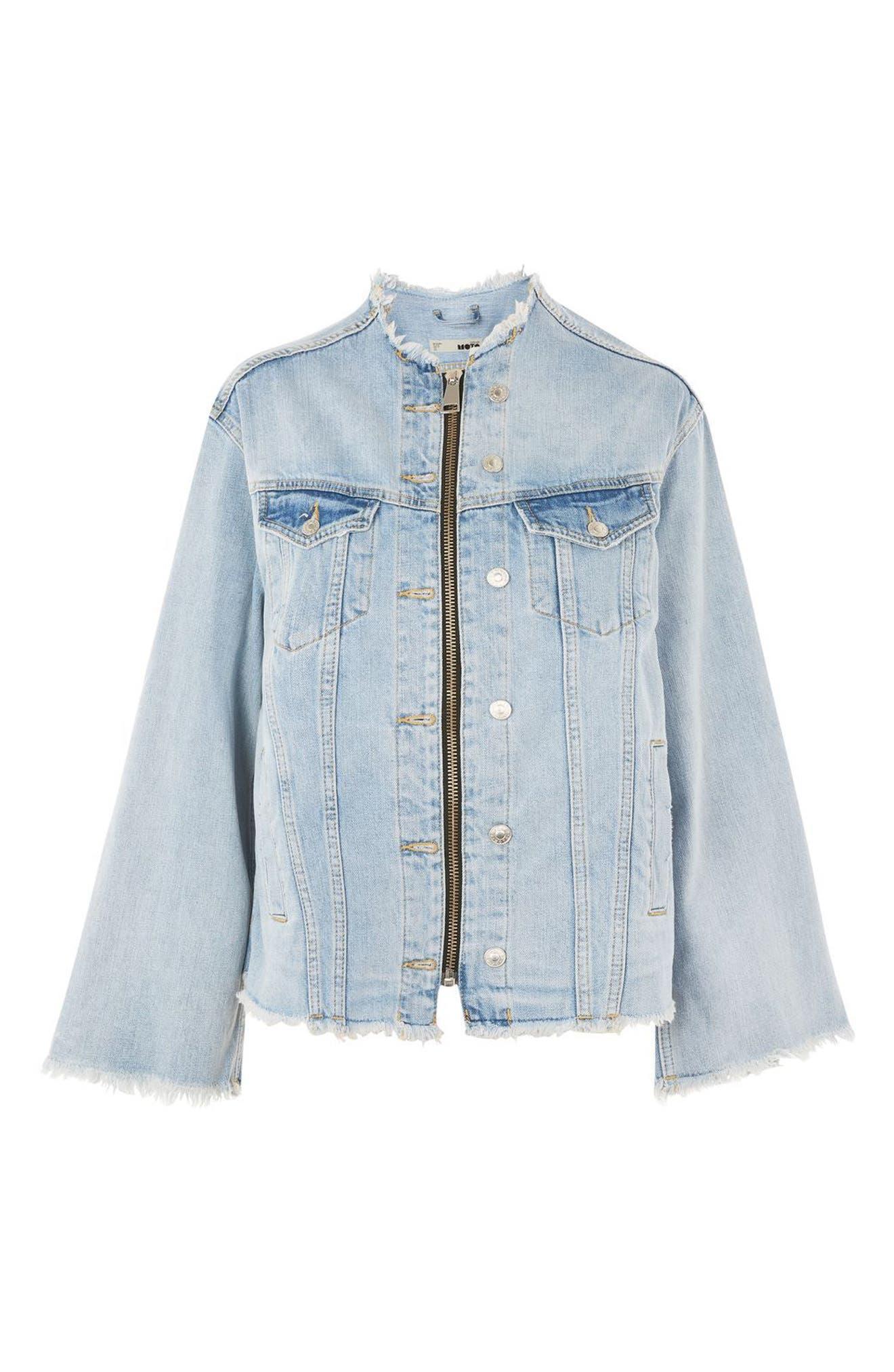 Alternate Image 4  - Topshop Zip Through Denim Jacket