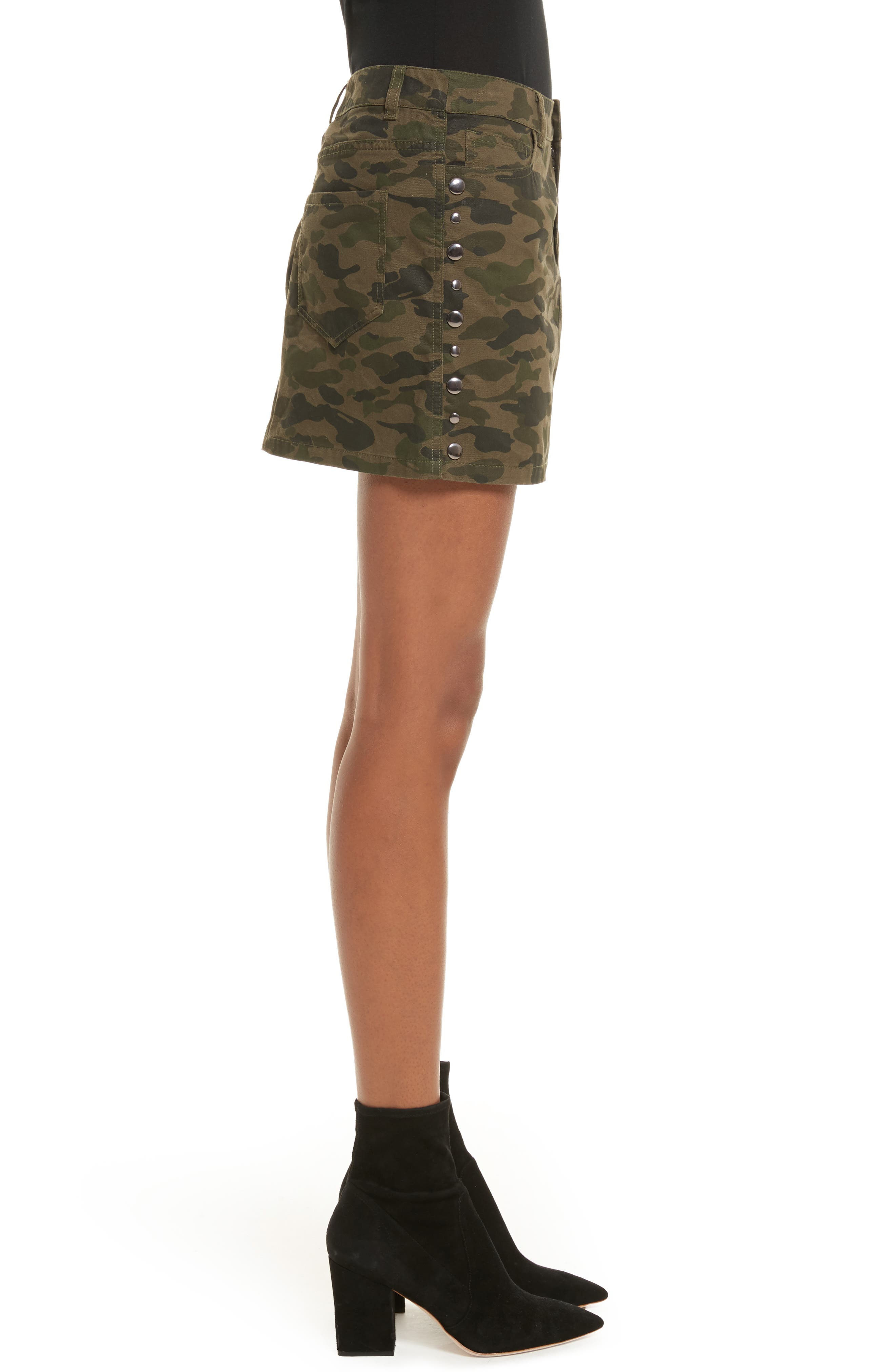 Dove Camo Miniskirt,                             Alternate thumbnail 3, color,                             Camouflage