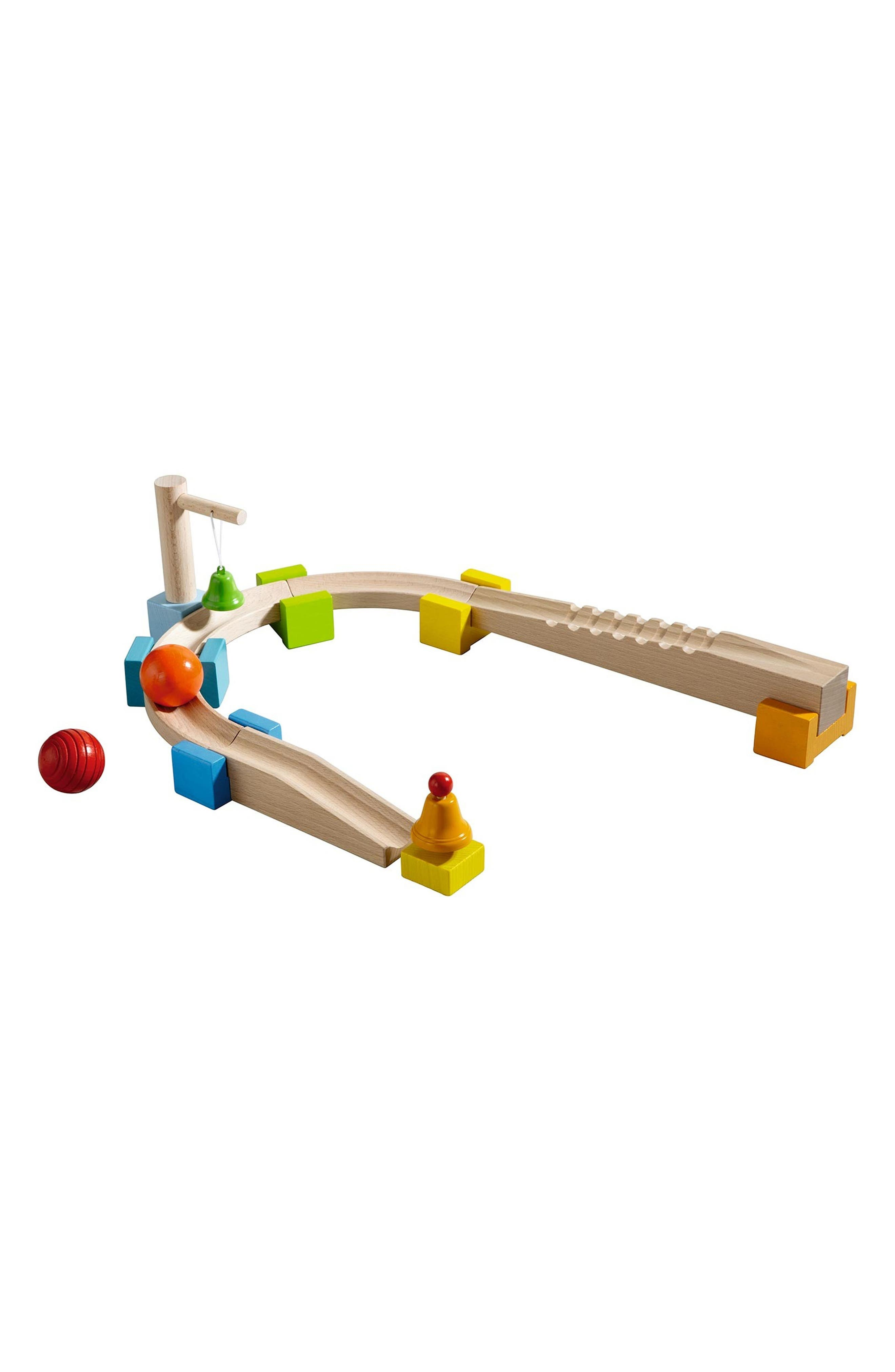 Alternate Image 1 Selected - HABA My First Ball Track - 14-Piece Basic Pack Chatter Track Play Set