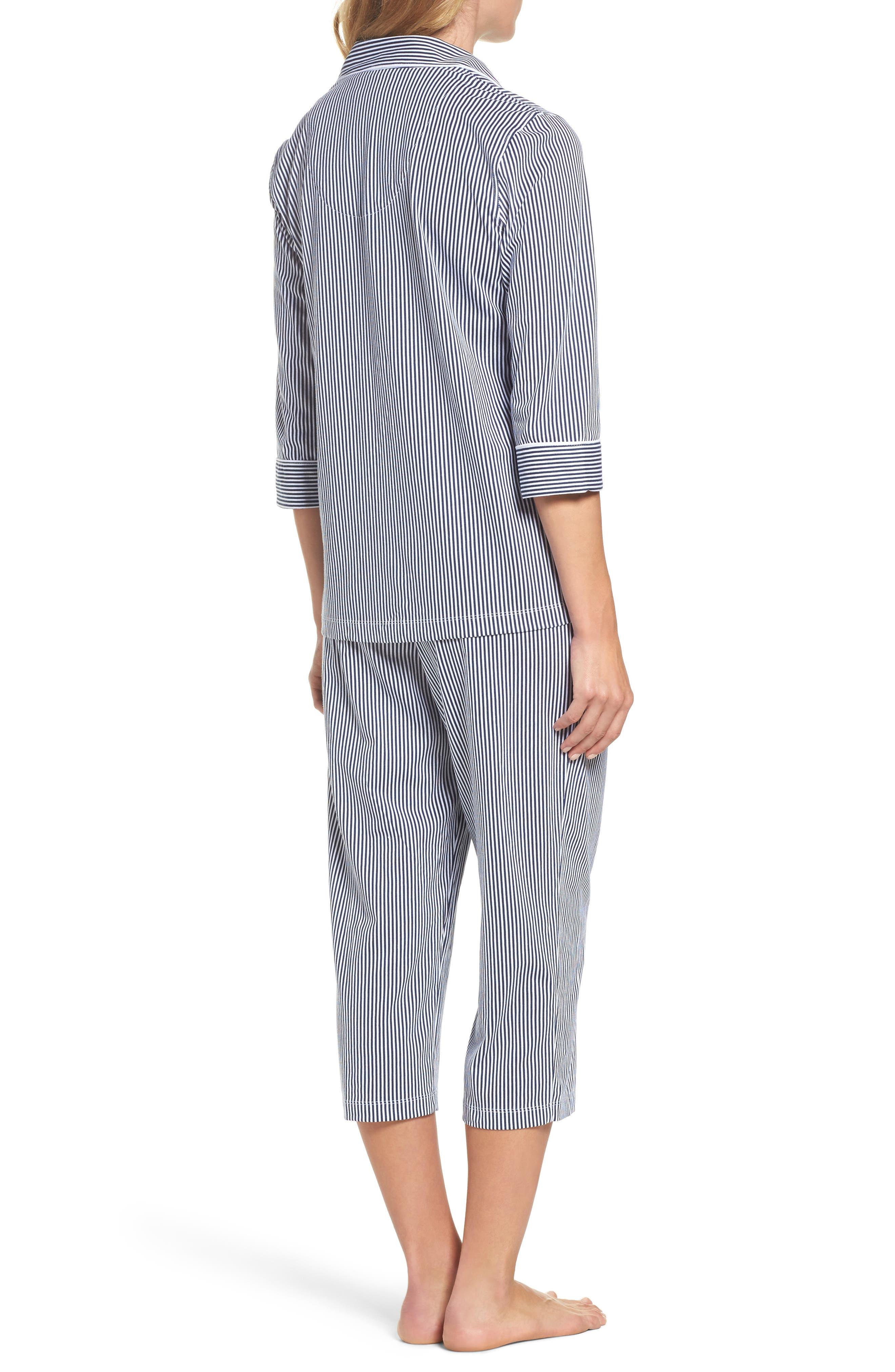 Alternate Image 2  - Lauren Ralph Lauren Knit Crop Pajamas (Online Only)