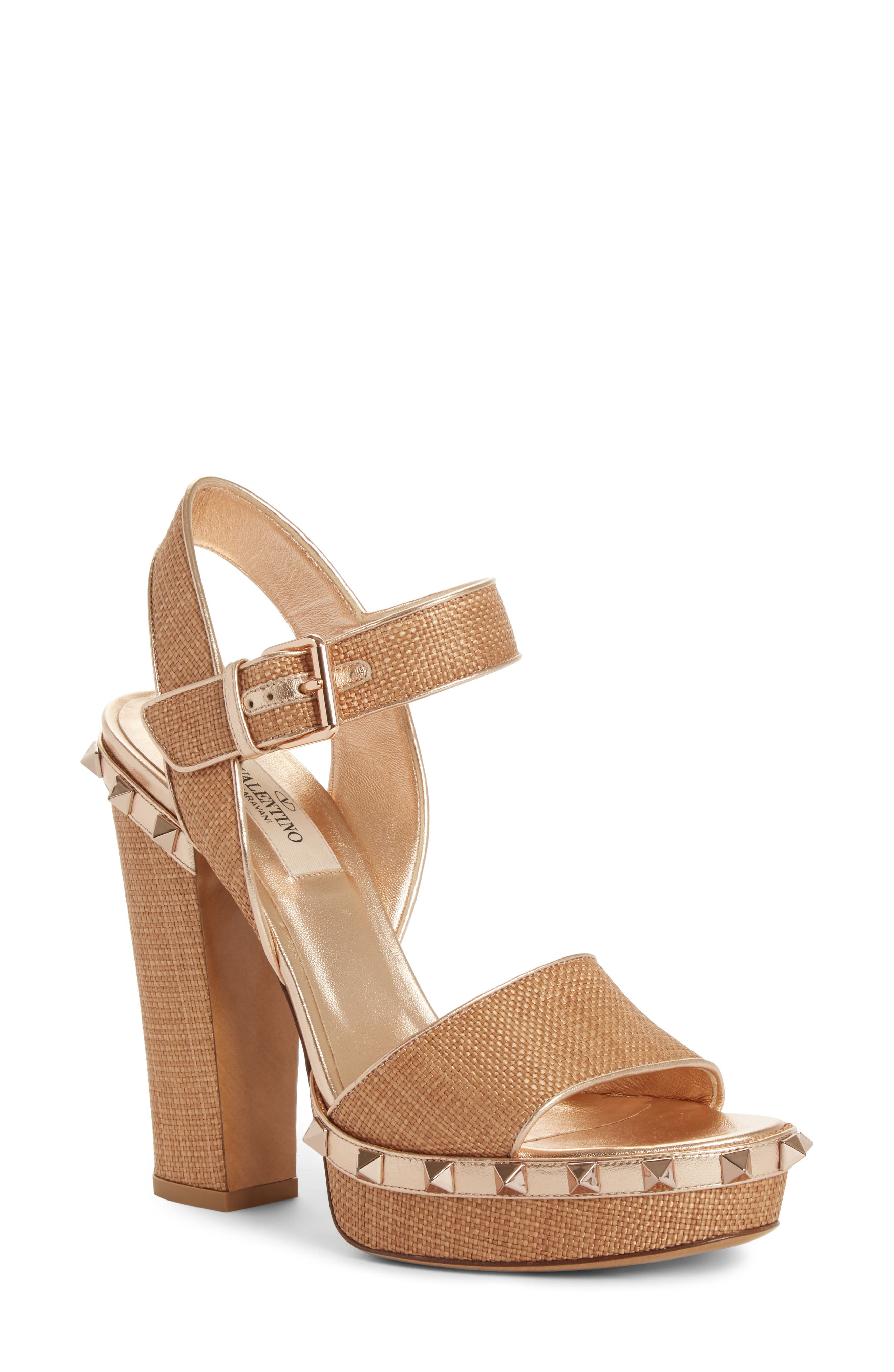 Valentino Rockstud Platform Sandal (Women)