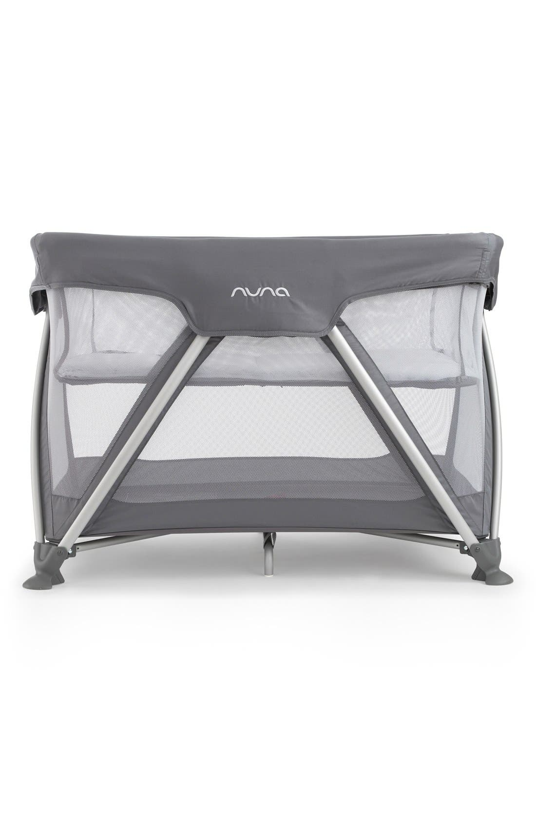 nuna Travel Crib, Fitted Sheet & Changing Pad