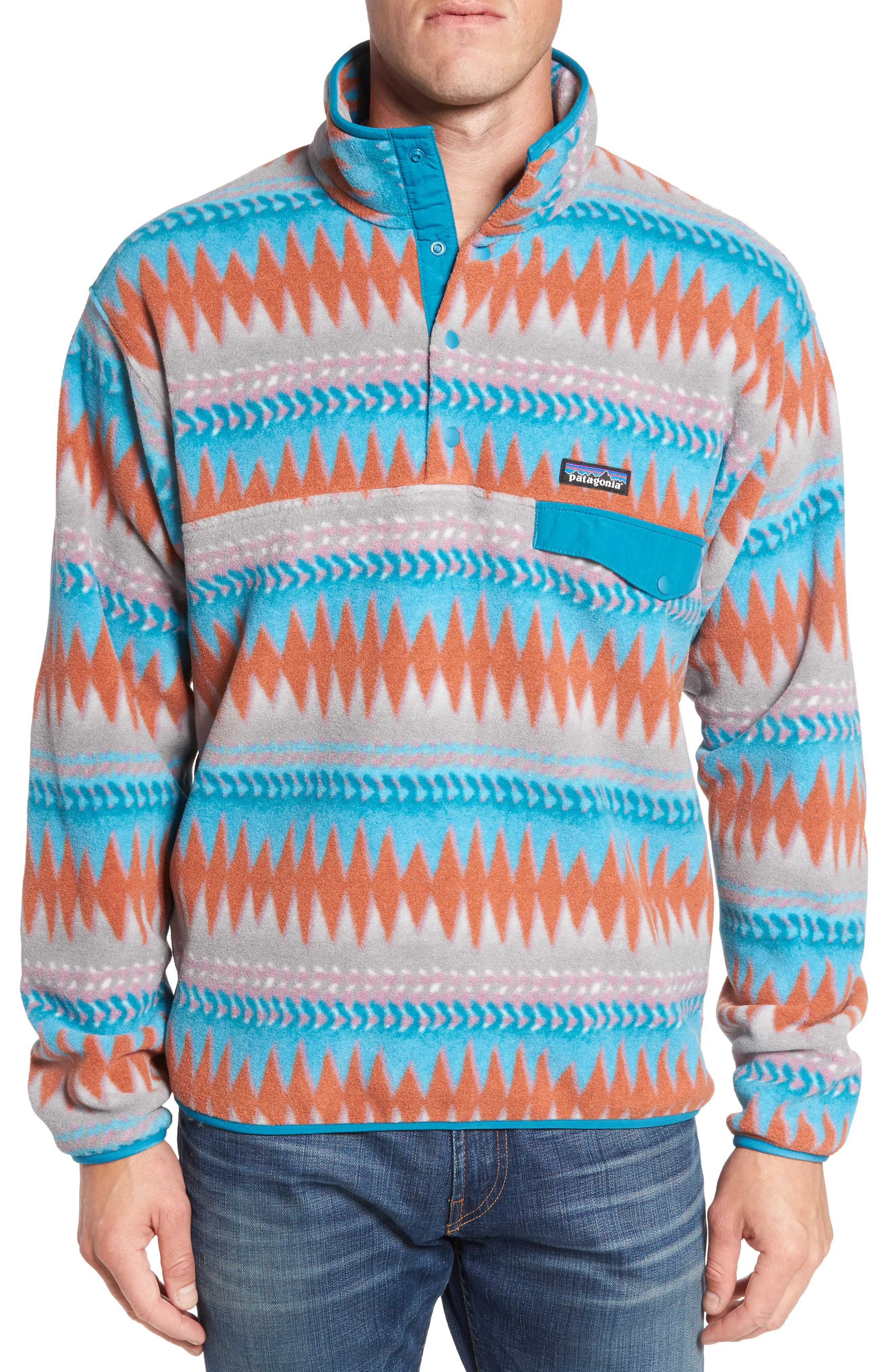 Synchilla<sup>®</sup> Snap-T<sup>®</sup> Fleece Pullover,                         Main,                         color, Laughing Waters Filter Blue