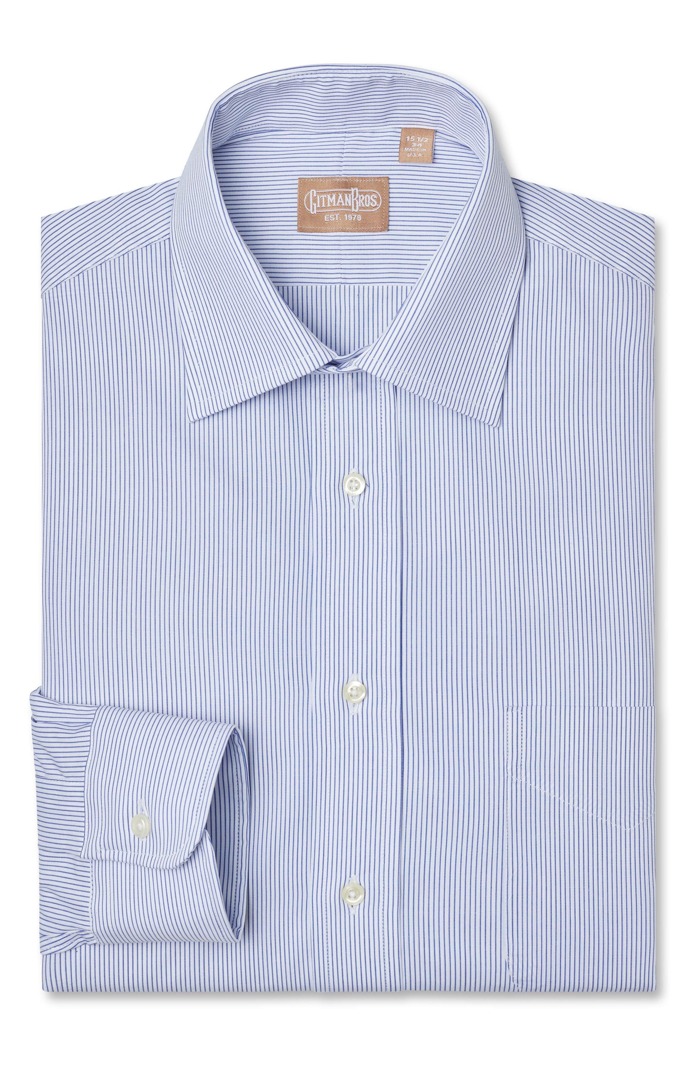 Main Image - Gitman Regular Fit Stripe Dress Shirt