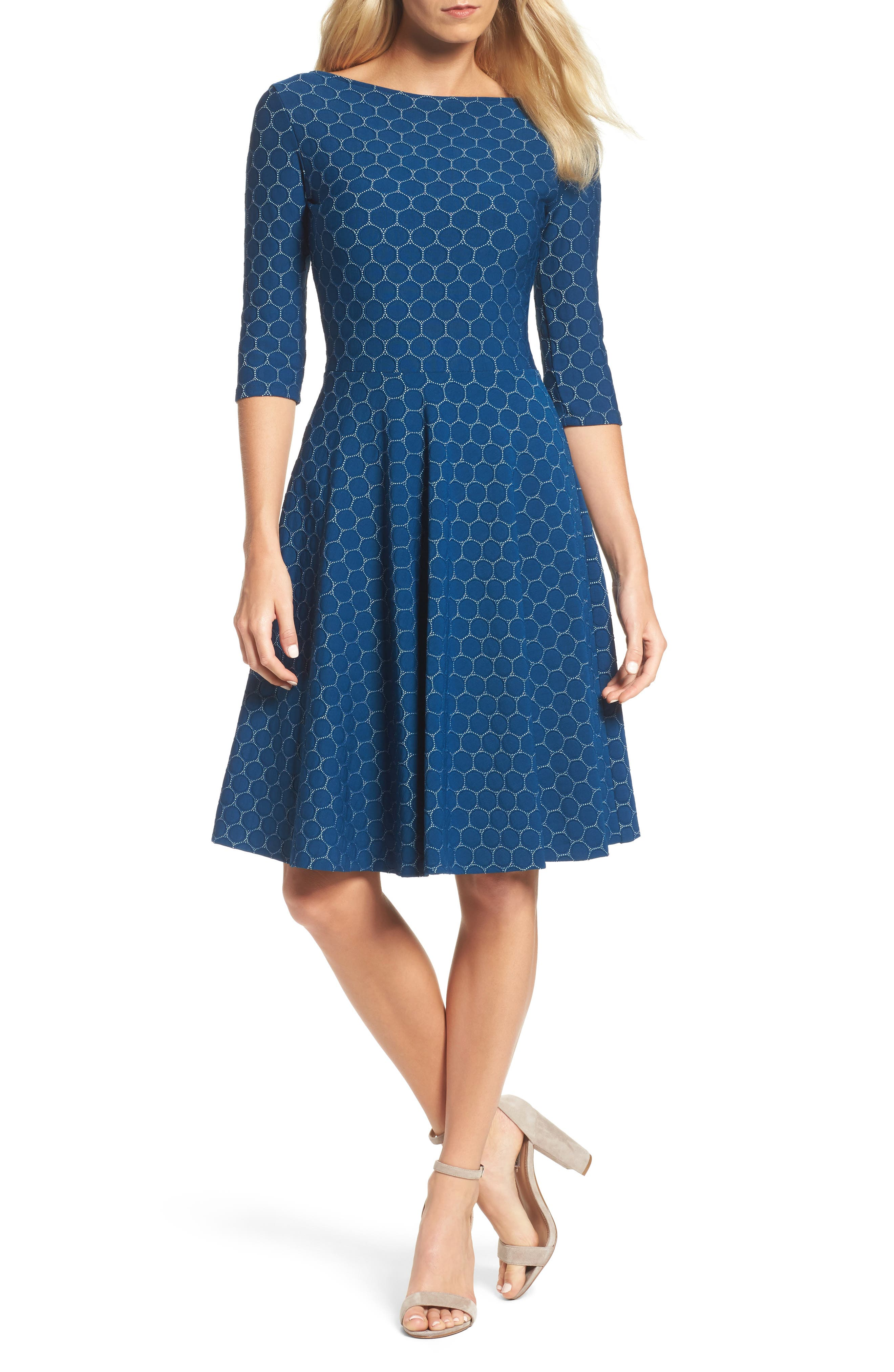 Alternate Image 1 Selected - Leota Circle Knit Fit & Flare Dress