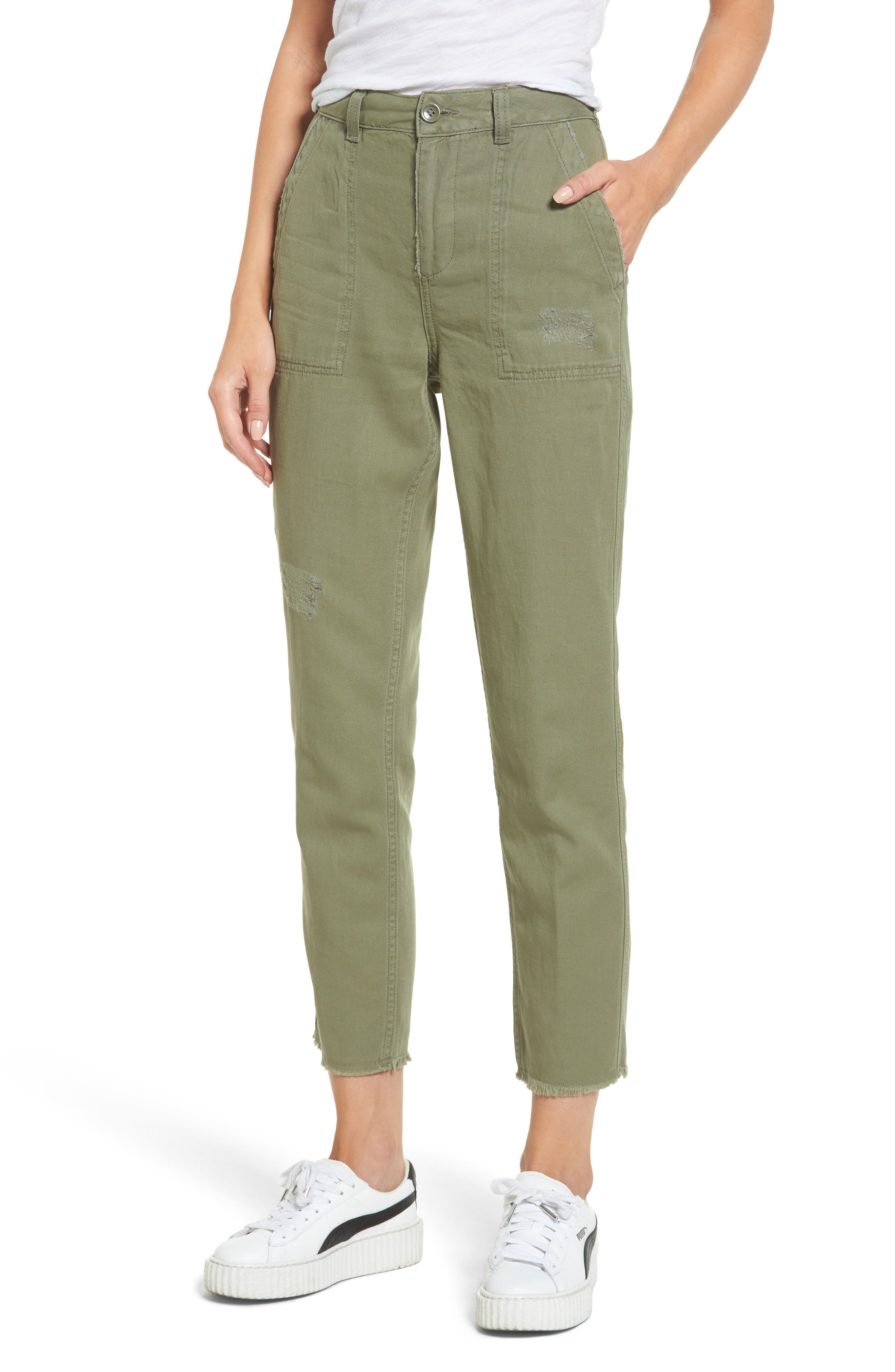 Alternate Image 1 Selected - Topshop Luca Ulility Trousers
