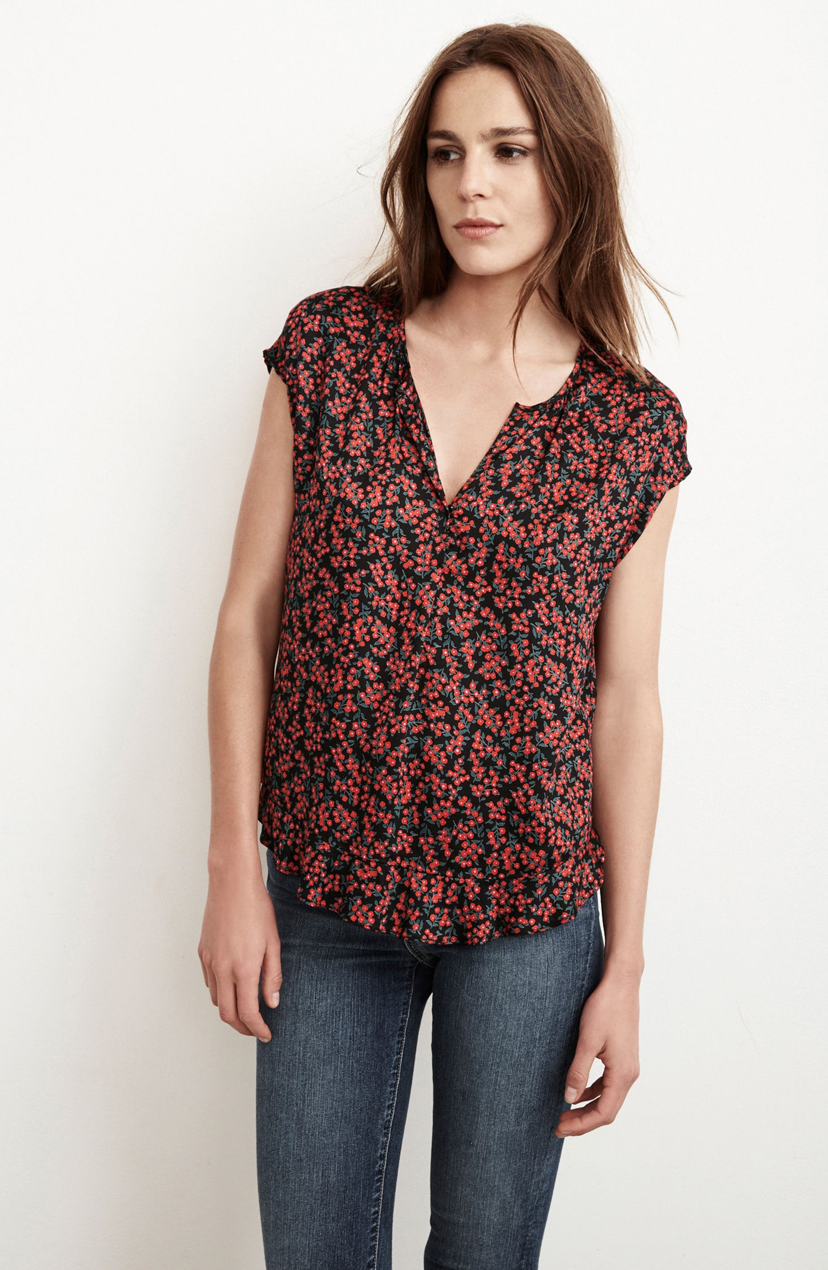 Alternate Image 2  - Velvet by Graham & Spencer Print Woven Top