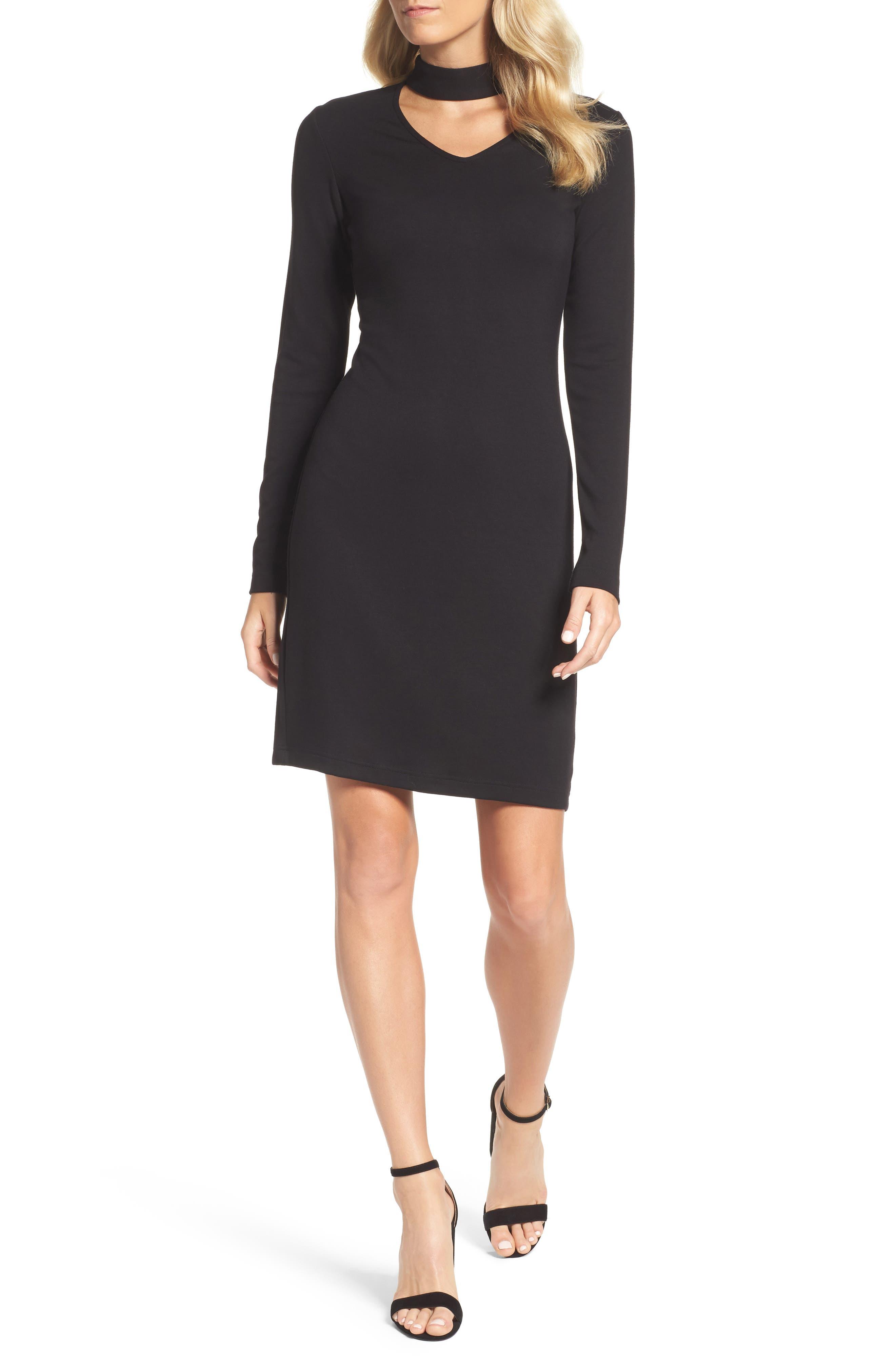 Choker Body-Con Dress,                         Main,                         color, Black