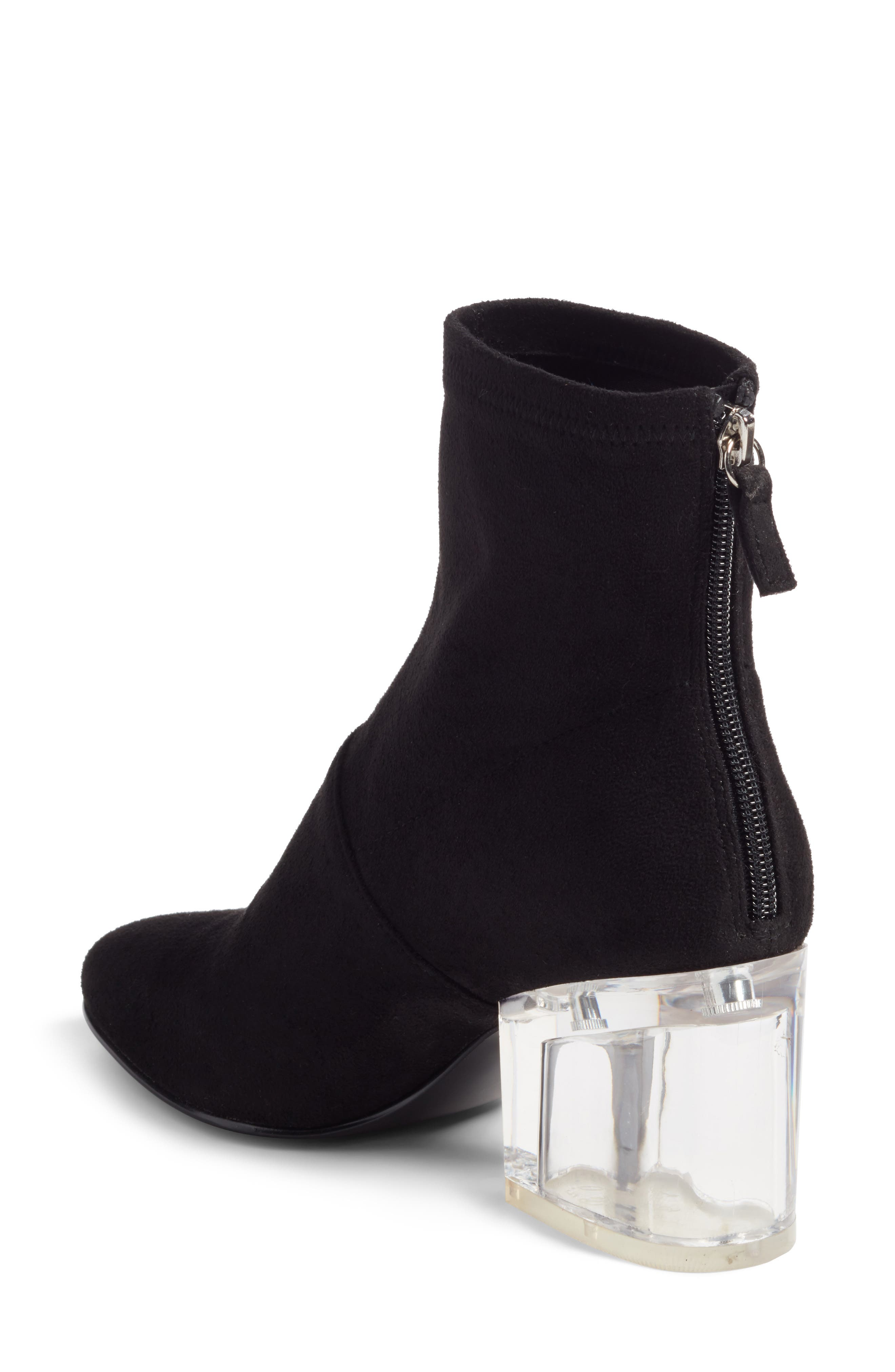 Lusty Statement Heel Bootie,                             Alternate thumbnail 2, color,                             Black