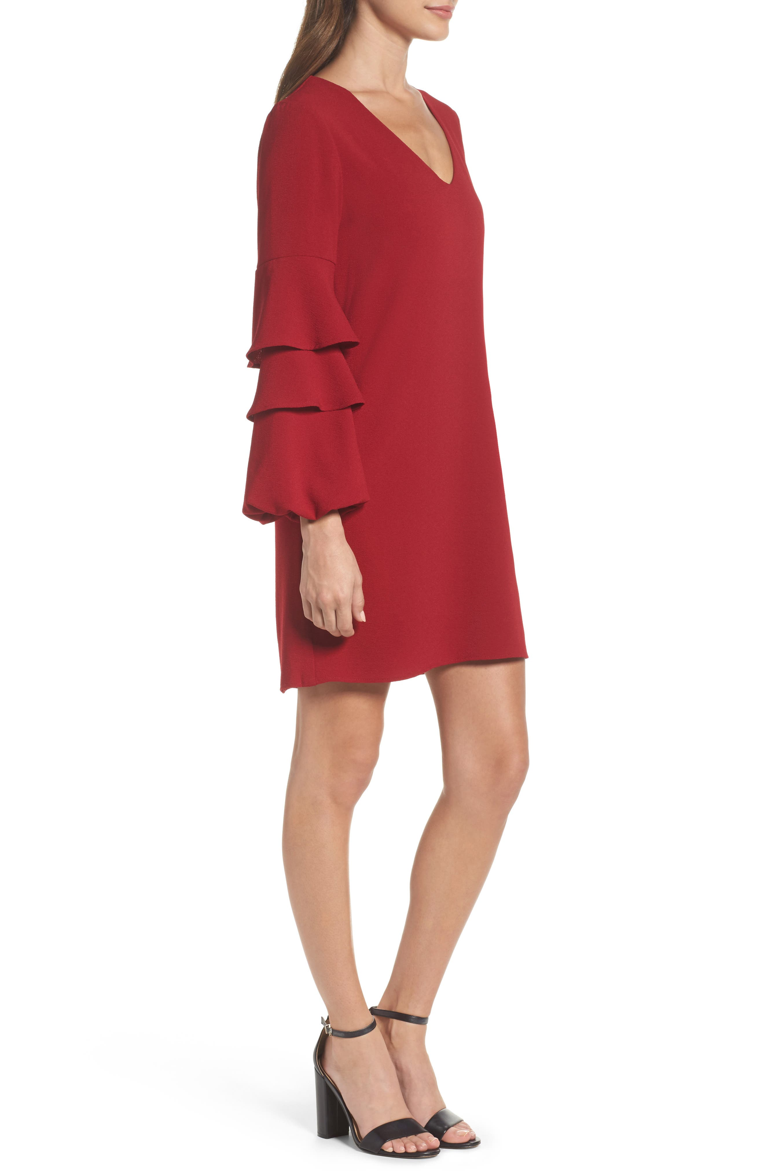 Alternate Image 3  - Charles Henry Tiered Ruffle Sleeve Dress (Regular & Petite)