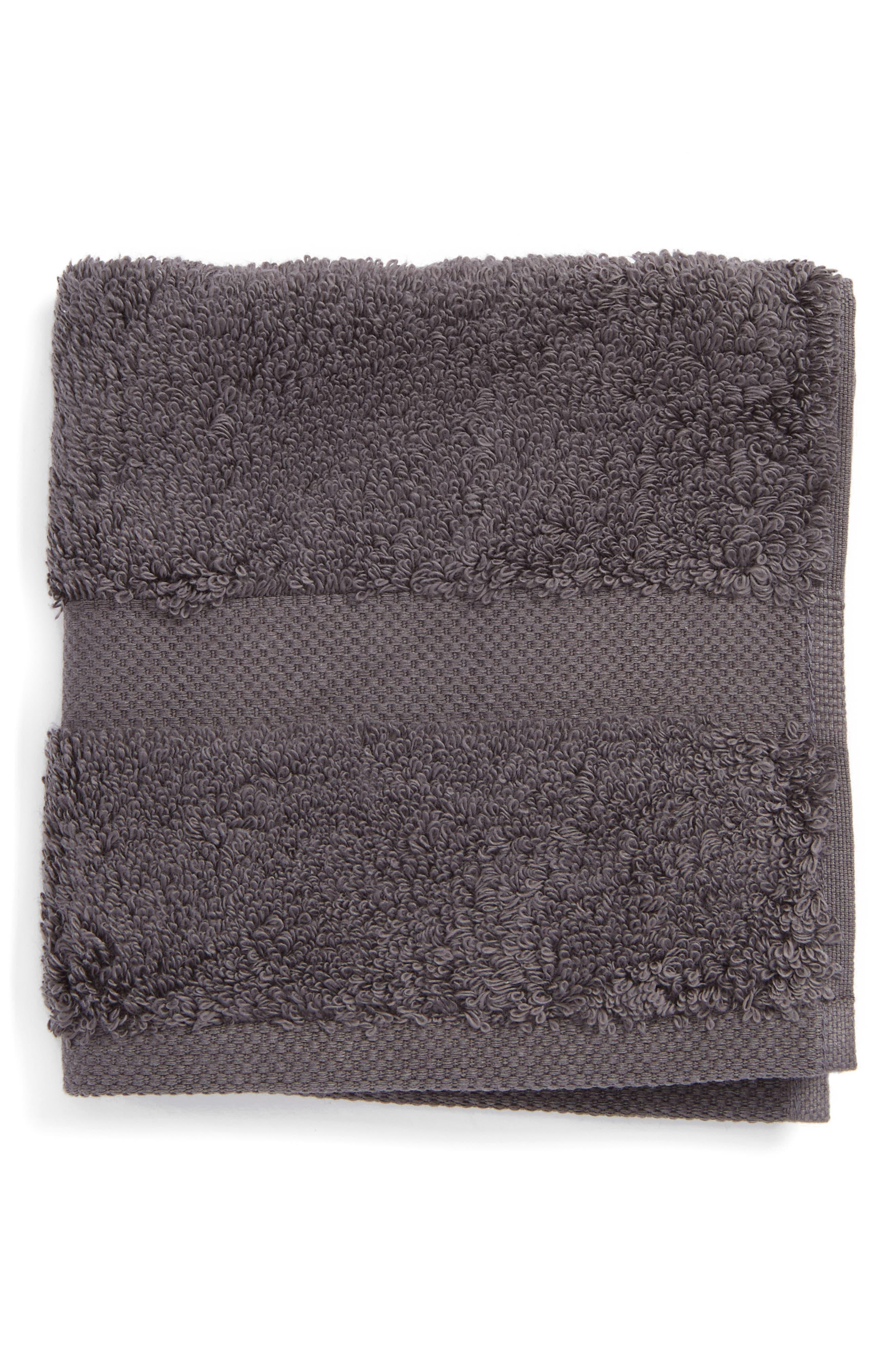 Lotus Washcloth,                         Main,                         color, Charcoal