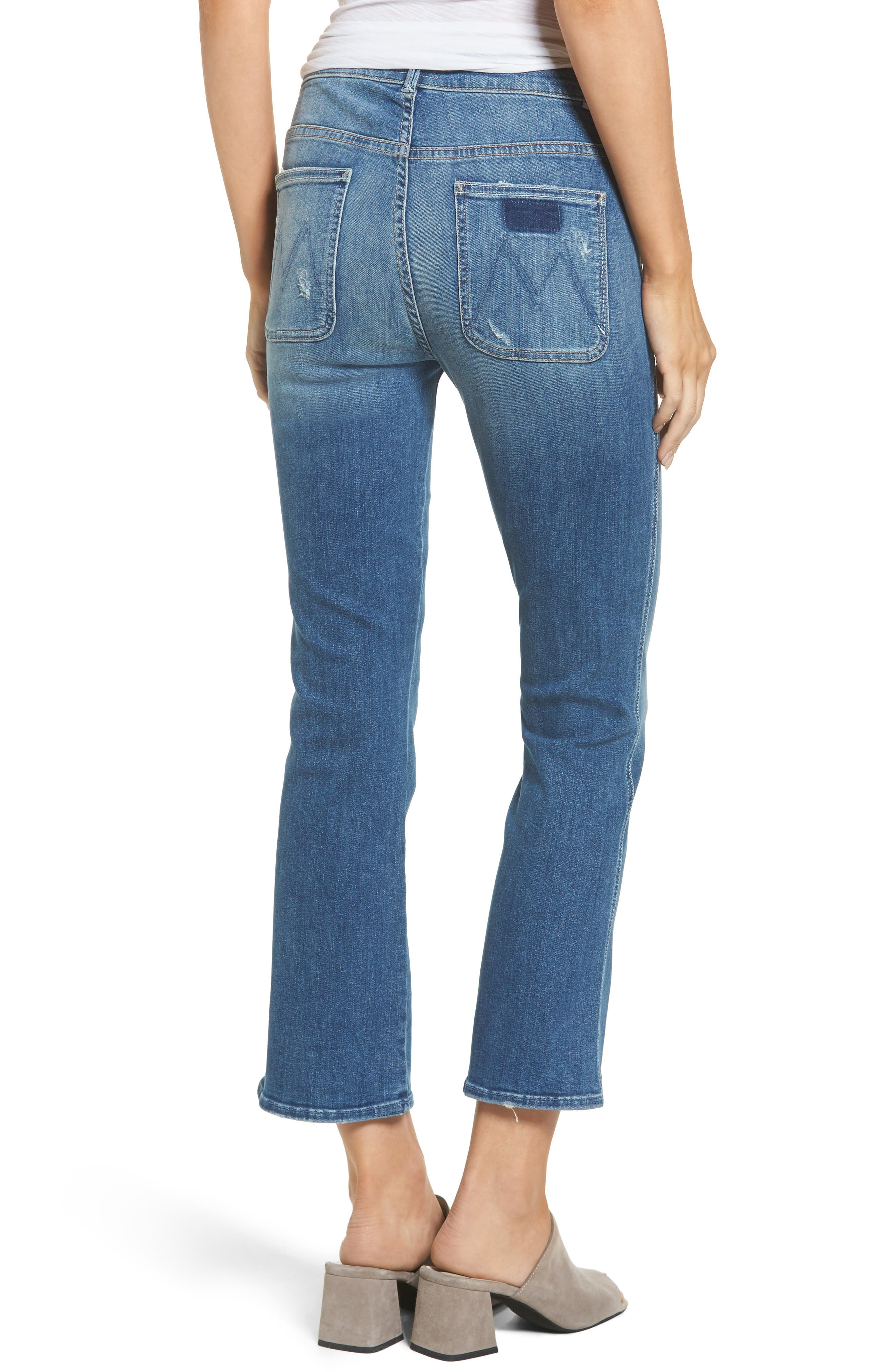 Alternate Image 2  - MOTHER The Insider High Waist Crop Bootcut Jeans (Racing Heart)