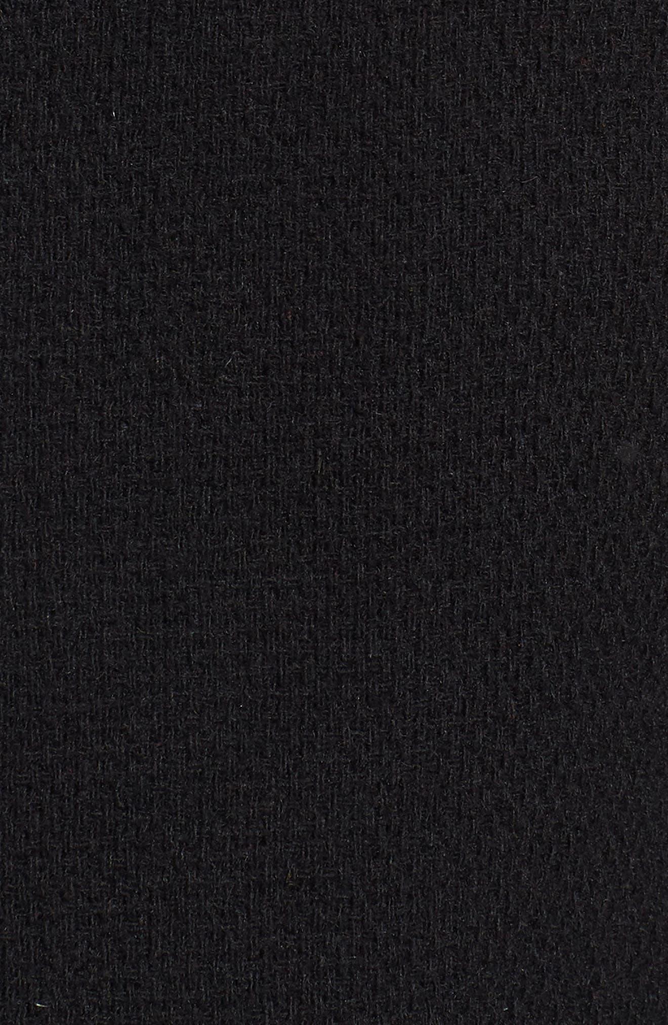 A-Line Coat,                             Alternate thumbnail 6, color,                             Black