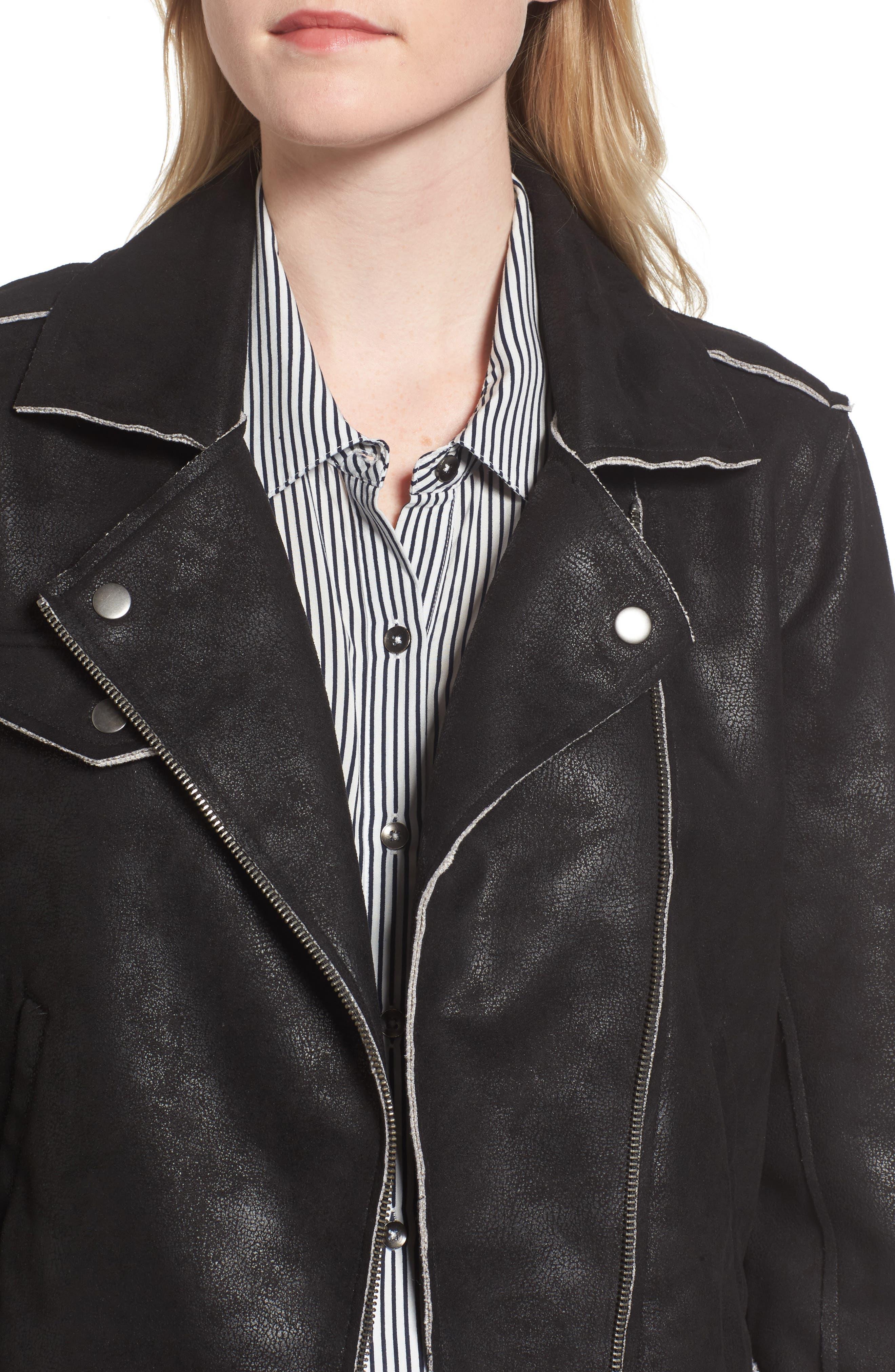 Alternate Image 4  - Splendid Faux Leather Moto Jacket
